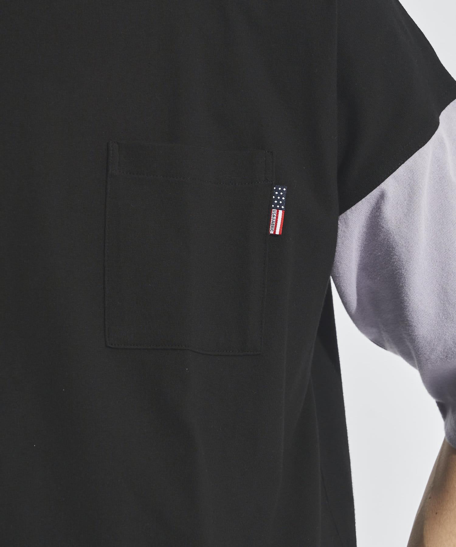 CPCM(シーピーシーエム) 【定番人気商品】5分袖ドロップショルダー クレイジーパターン ビッグシルエットT
