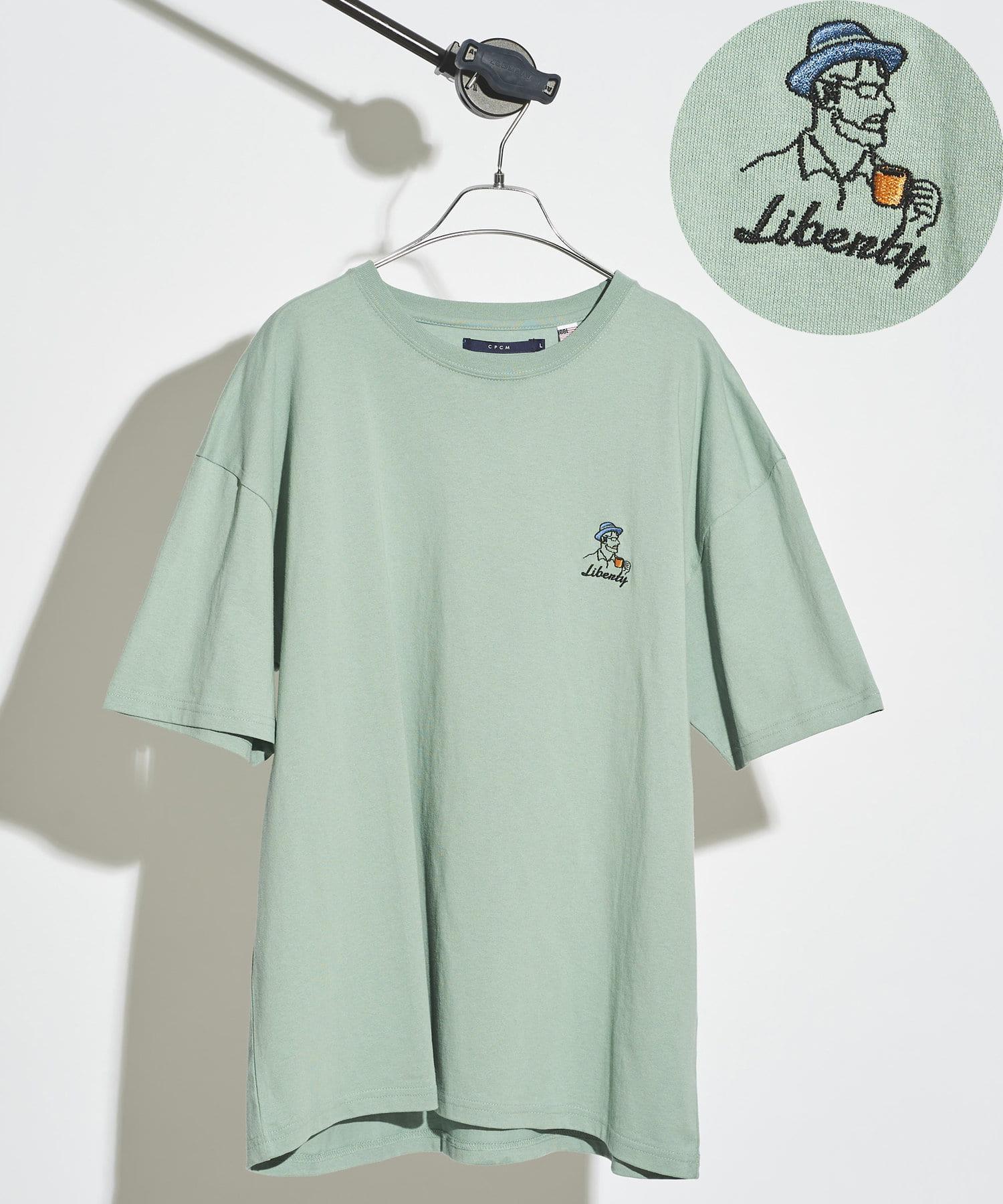 CPCM(シーピーシーエム) 【ユニセックスでおすすめ】1ポイント刺繍T