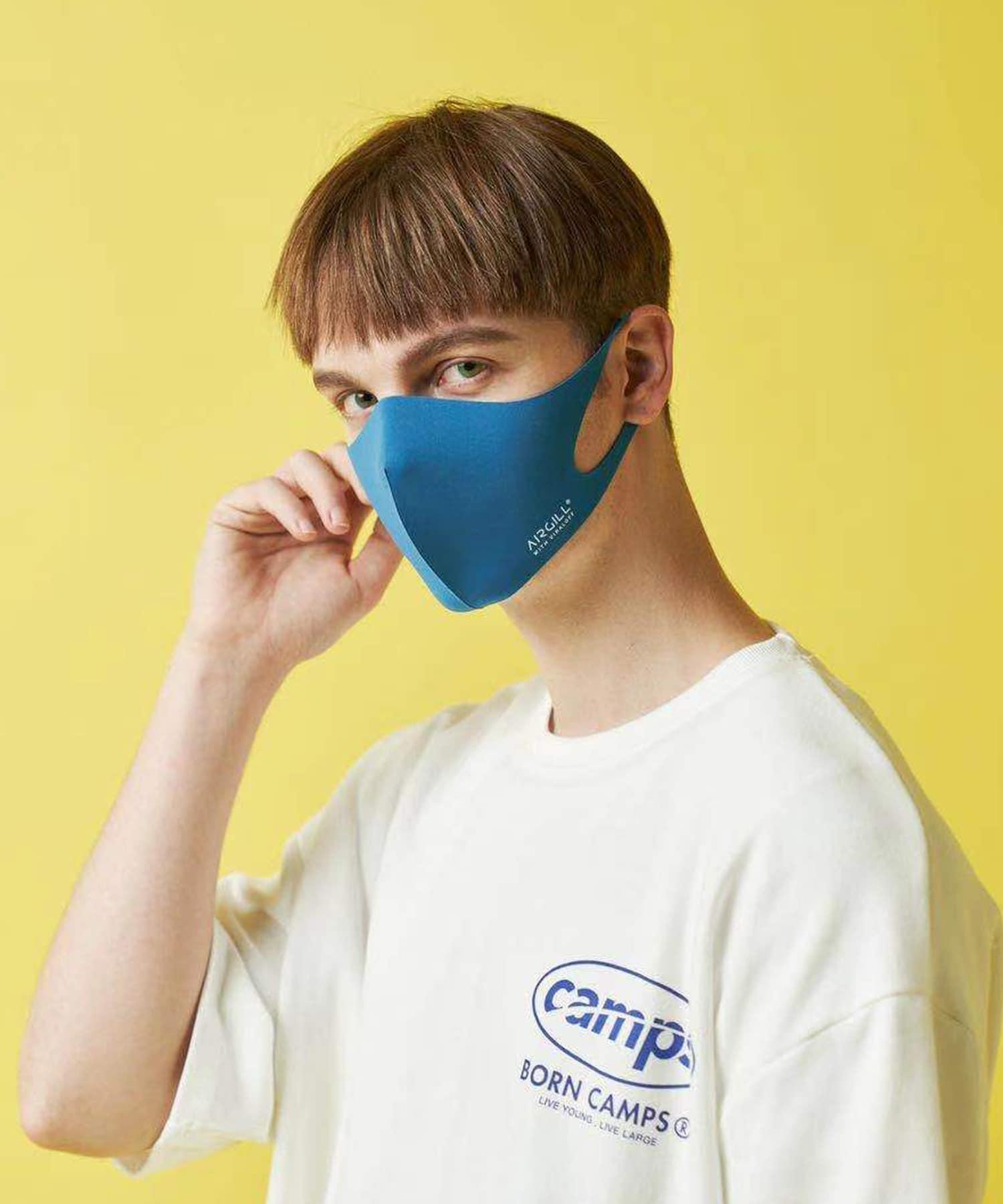 Daily russet(デイリー ラシット) レディース 【抗ウイルス・撥水・消臭・口臭予防】AIR GILLマスク ブルー