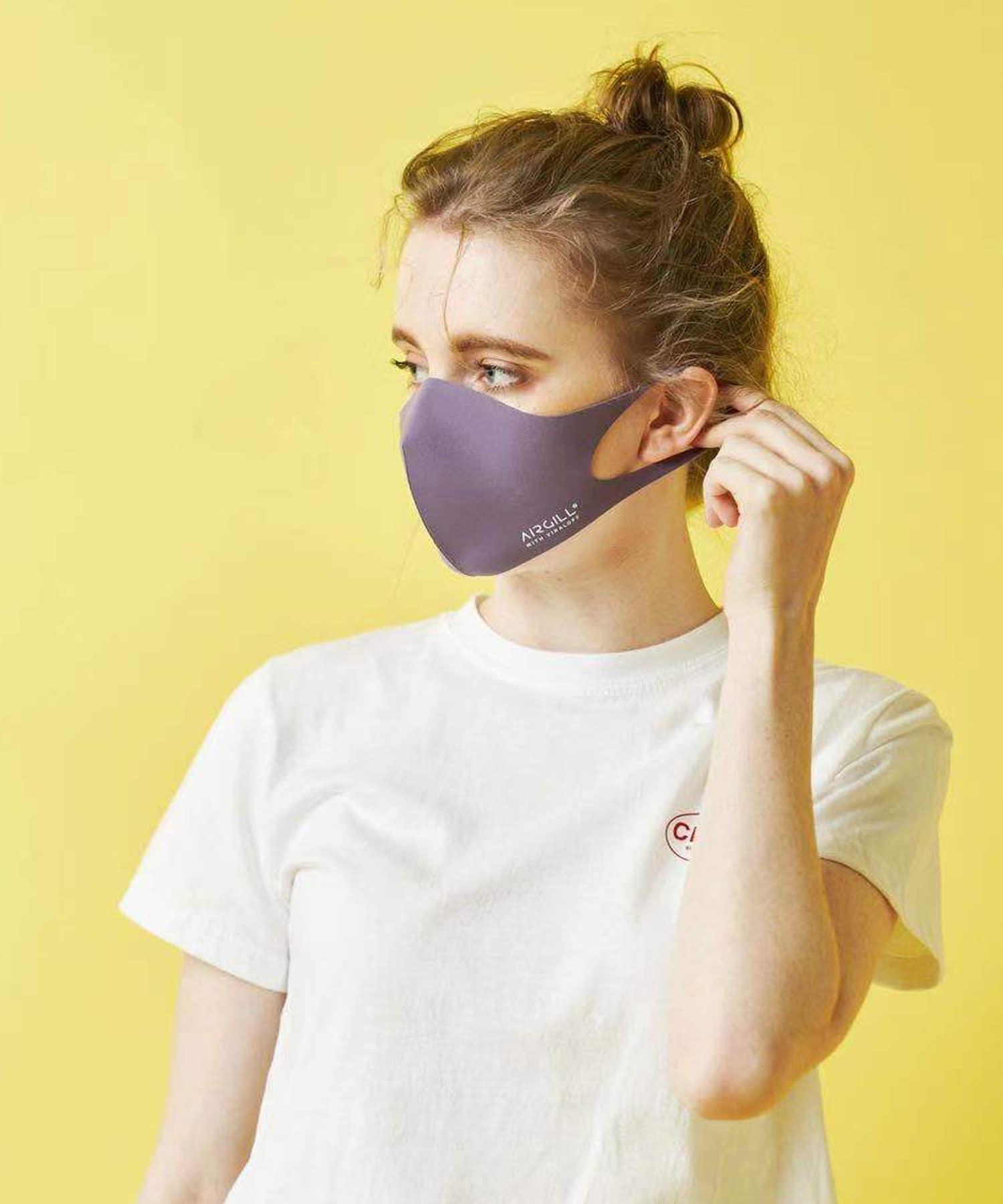 Daily russet(デイリー ラシット) レディース 【抗ウイルス・撥水・消臭・口臭予防】AIR GILLマスク パープル