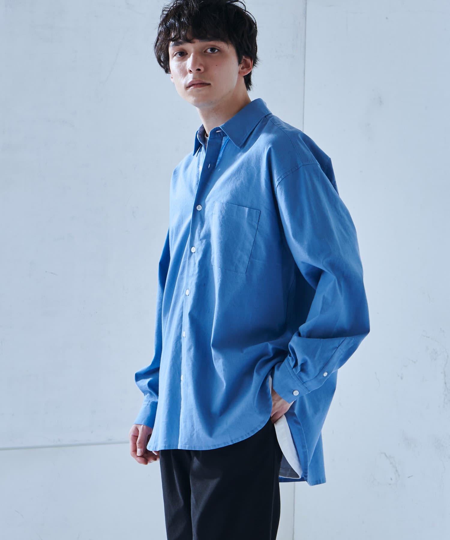 Discoat(ディスコート) Discoat(ディスコート) 綿麻SOLONAビッグシャツ サックスブルー