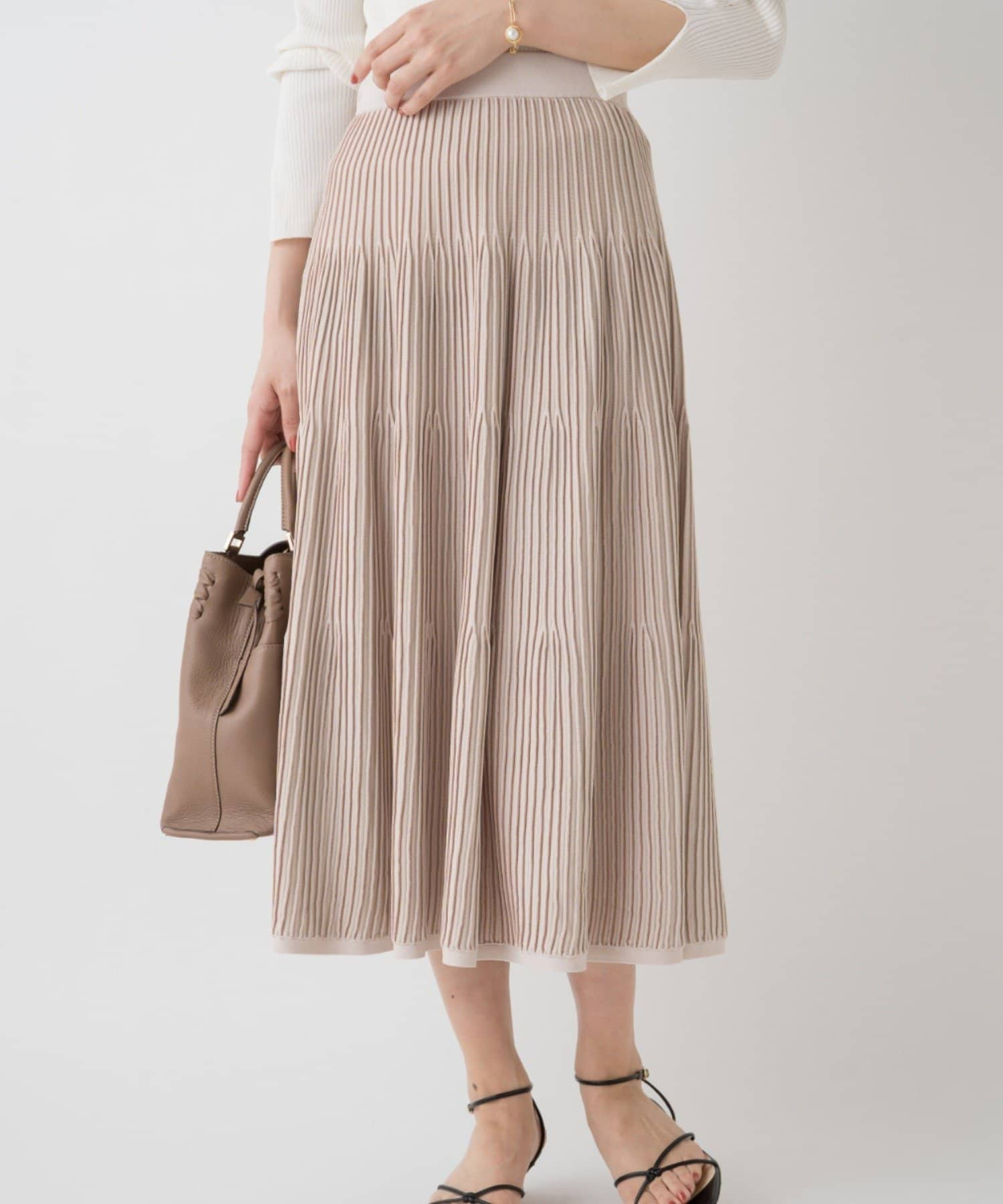 Loungedress(ラウンジドレス) マルチカラーニットプリーツスカート