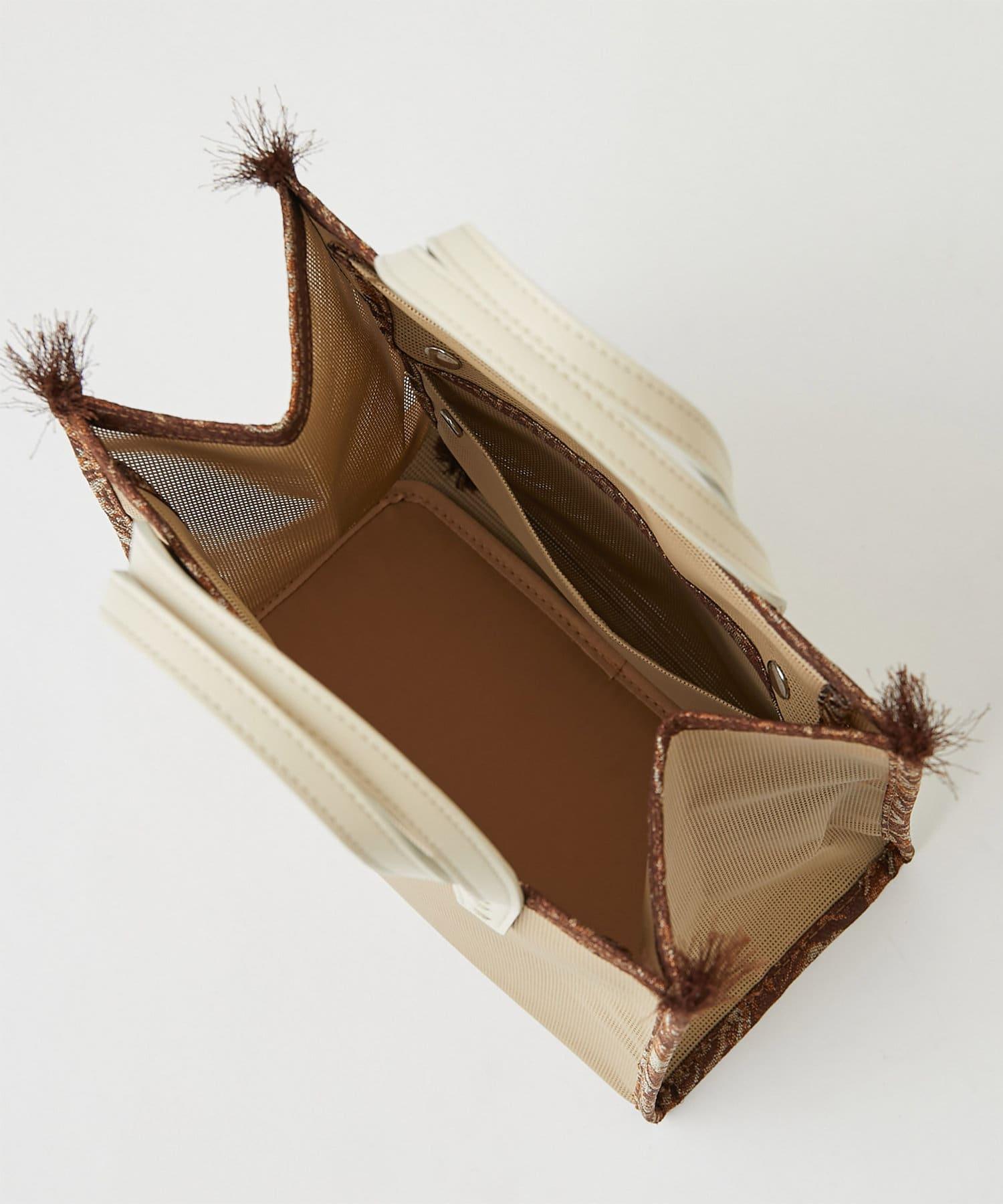 GALLARDAGALANTE(ガリャルダガランテ) 【A VACATION】メッシュミニトートバッグ/BOX <別注カラー>