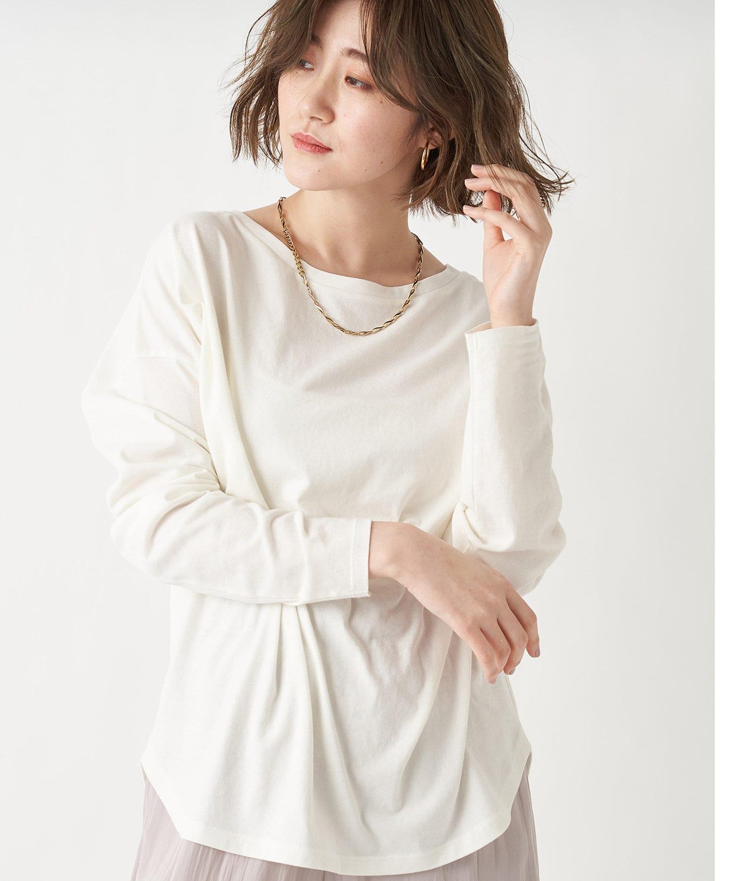 RIVE DROITE(リヴドロワ) レディース 【大人がマストで持ちたい】ハイツイストリラックスTシャツ オフホワイト