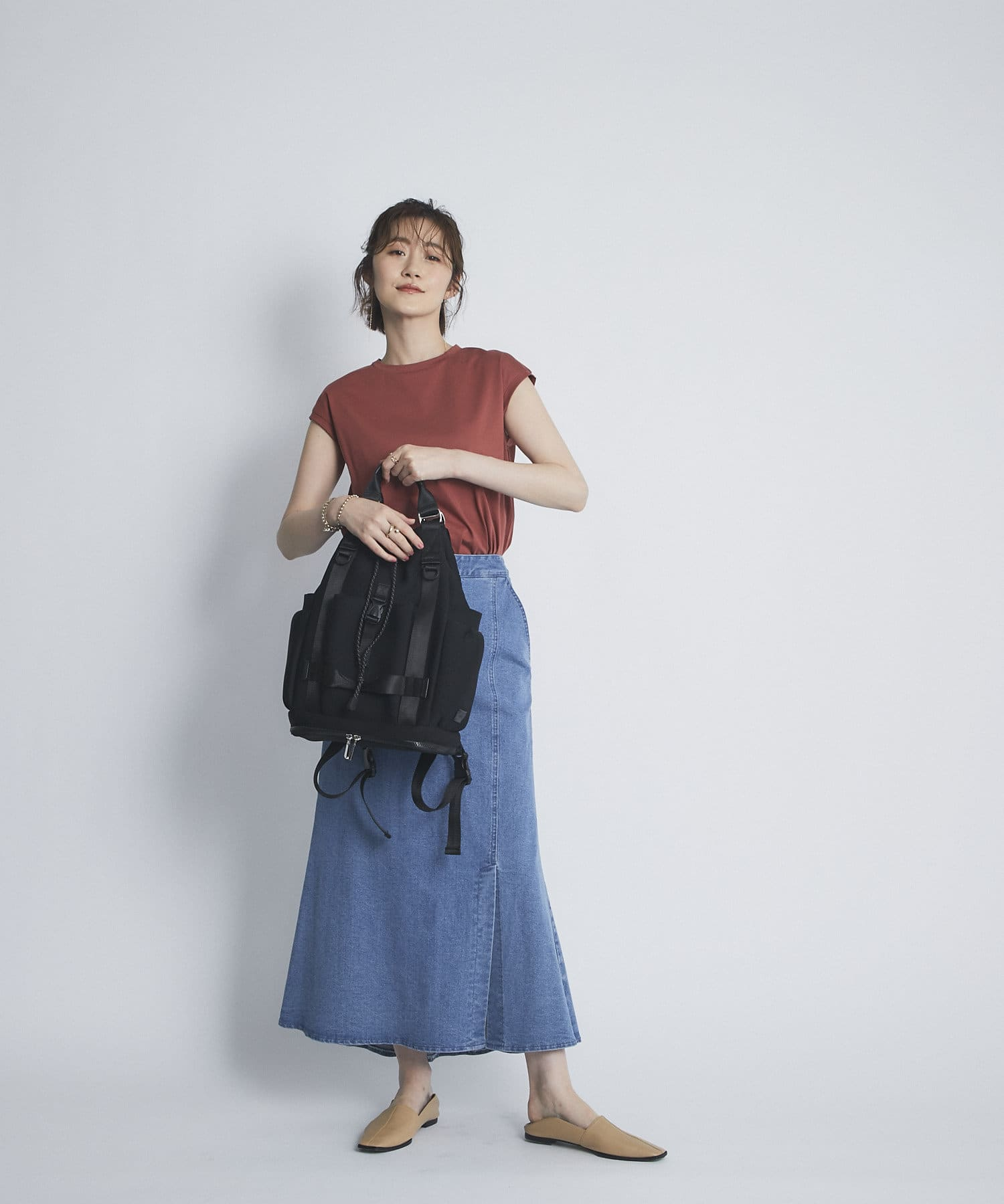 un dix cors(アンディコール) 【ROKOTA(ロコタ)】スクエアスリッポン