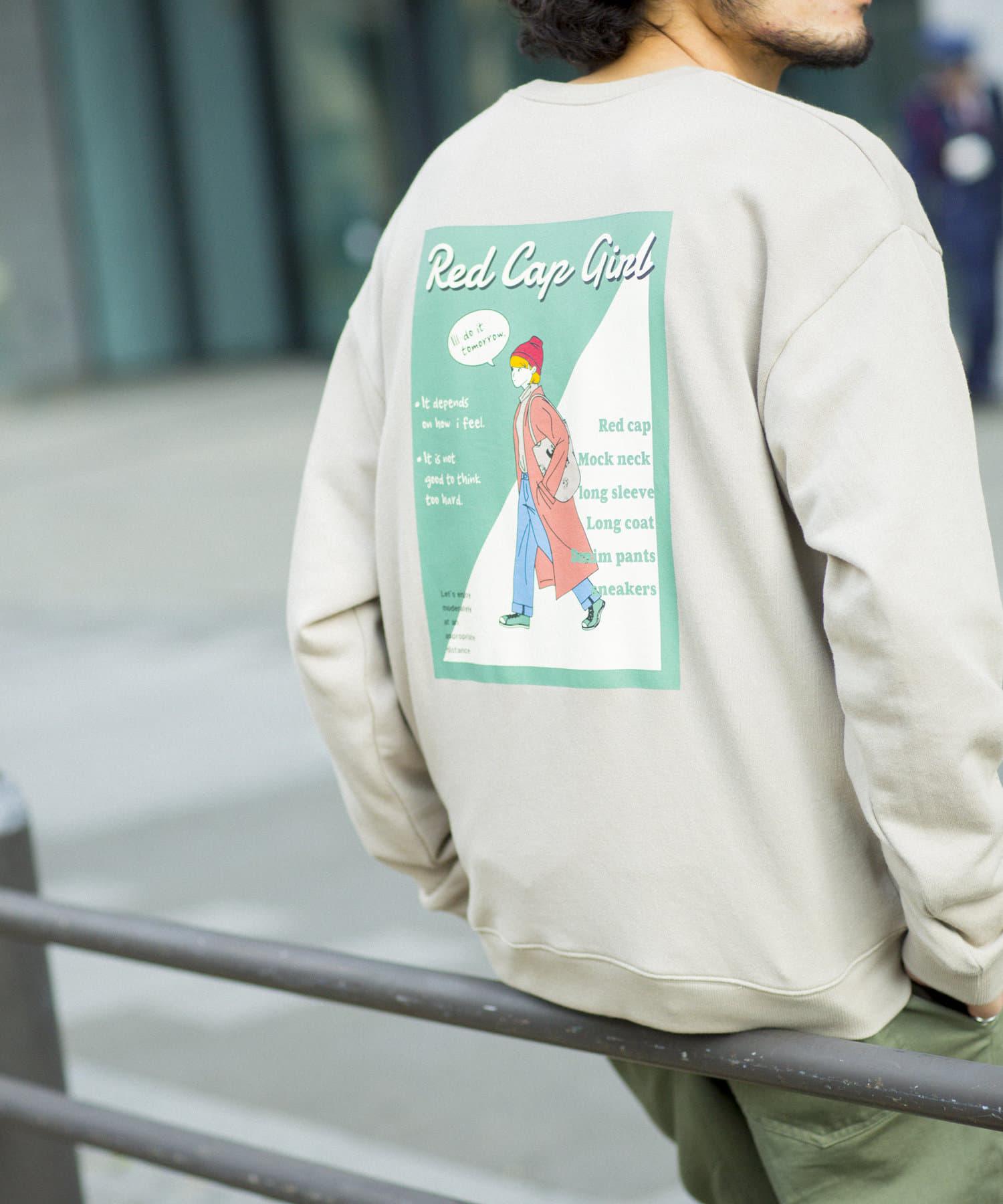 CPCM(シーピーシーエム) 【ユニセックス】ビッグシルエットクルースウェット/イラスト/刺繍/バックプリント