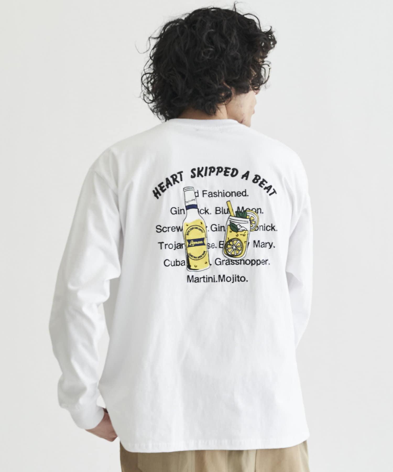 CPCM(シーピーシーエム) 【ユニセックスでおすすめ】】バックボトル刺繍 ロンT