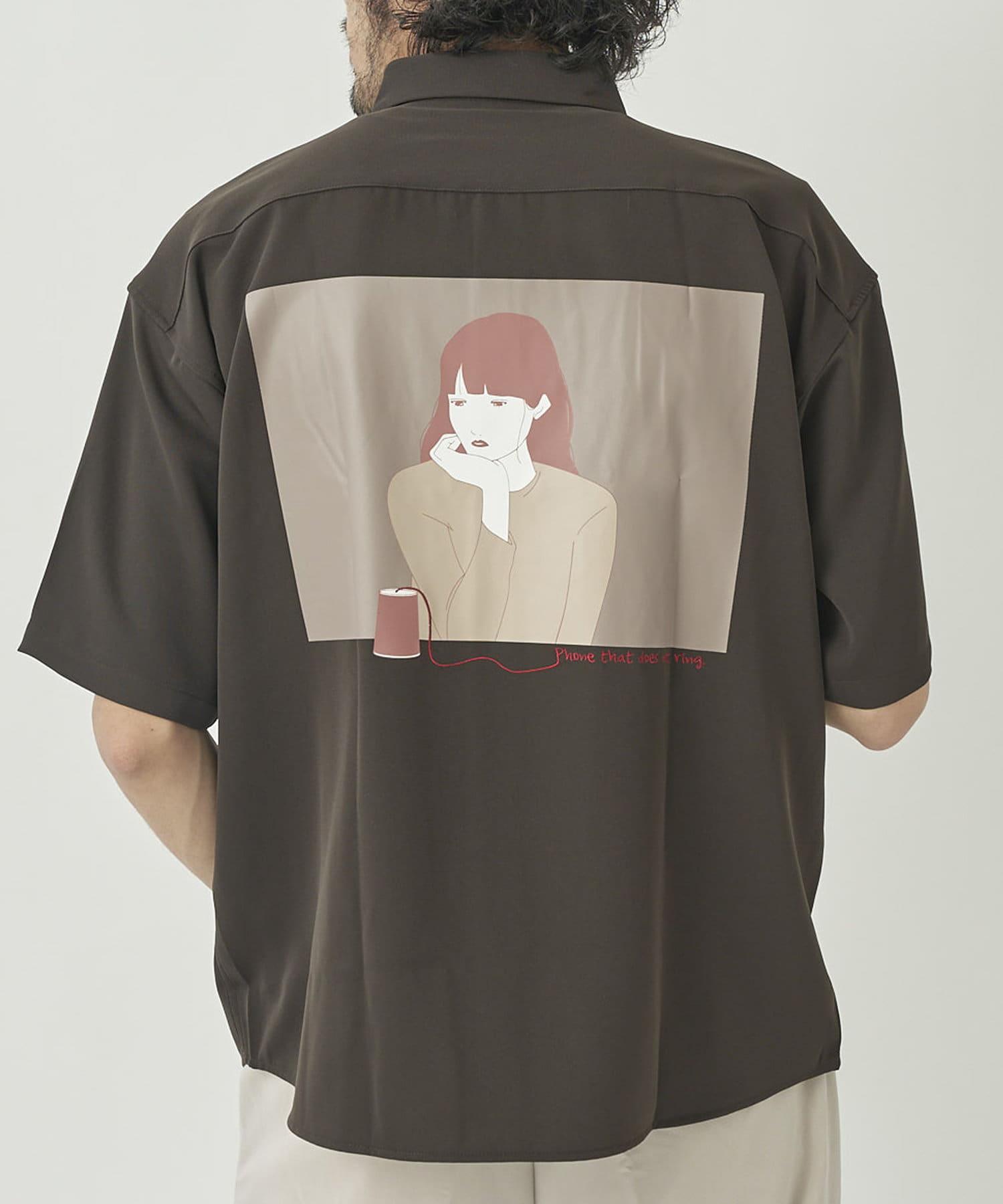 CPCM(シーピーシーエム) バックガールイラスト半袖シャツ