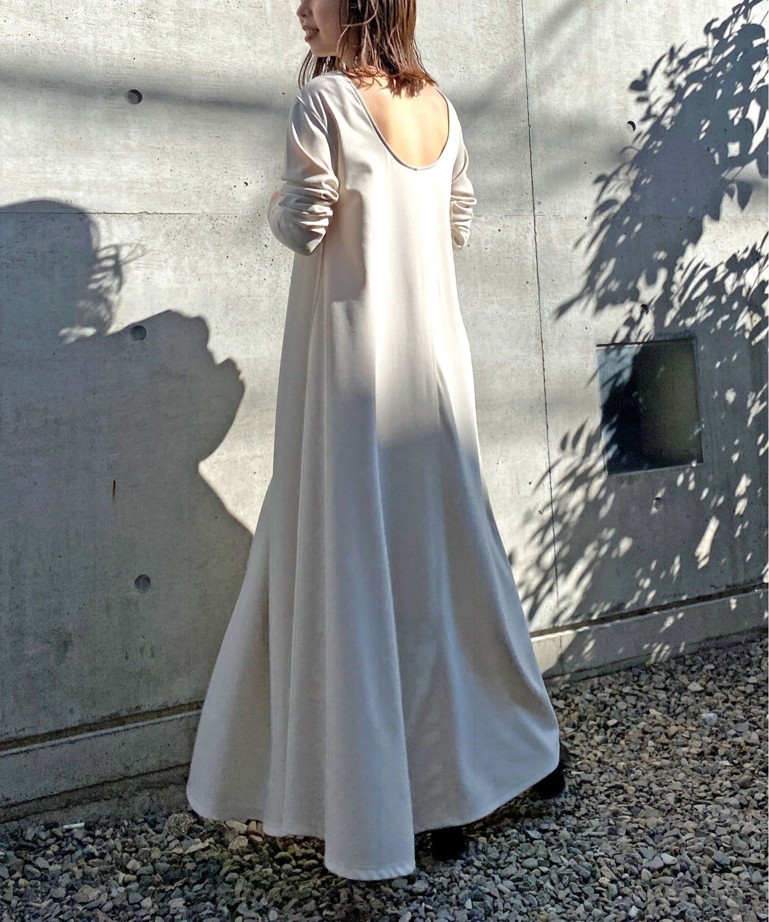 Omekashi(オメカシ) Önf(オンフ) カットジョーゼットドレス