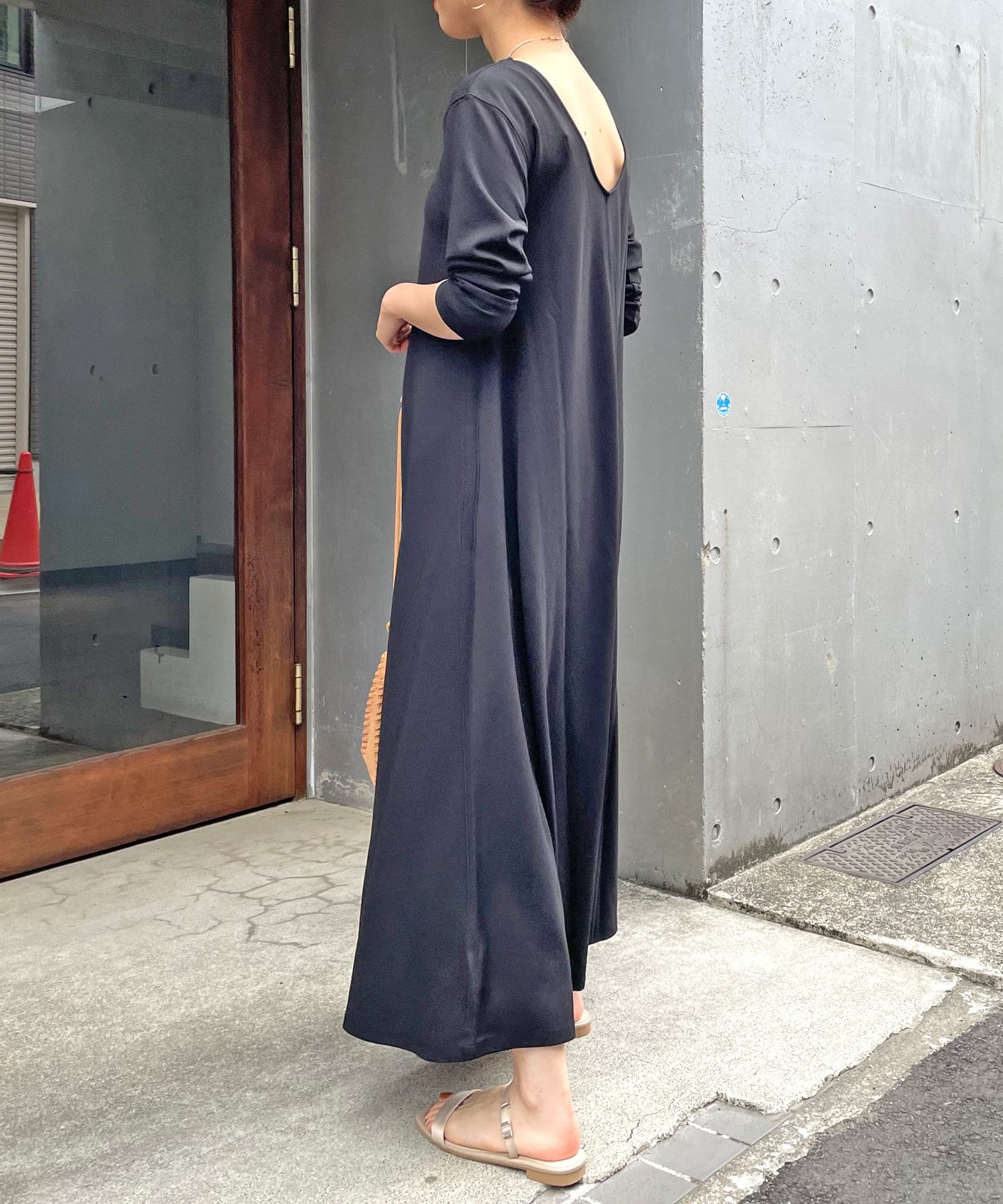Omekashi(オメカシ) Önf(オンフ) カットジョーゼットドレス【着用動画&解説あり】