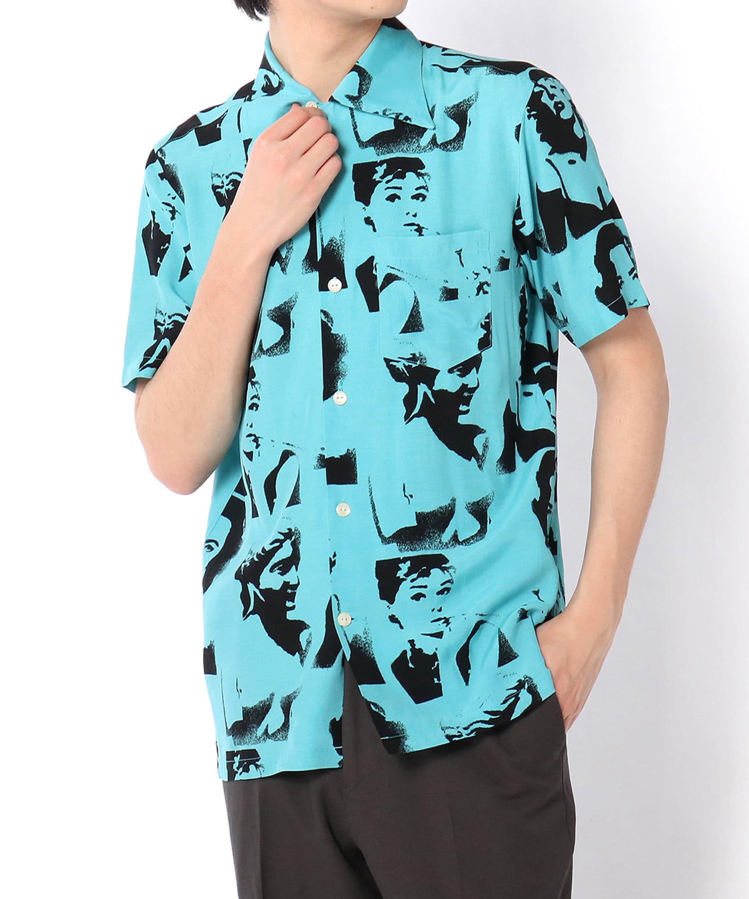 "Lui's(ルイス) 【Aloha Blossom】""VENUS"" MINTハワイアンシャツ"