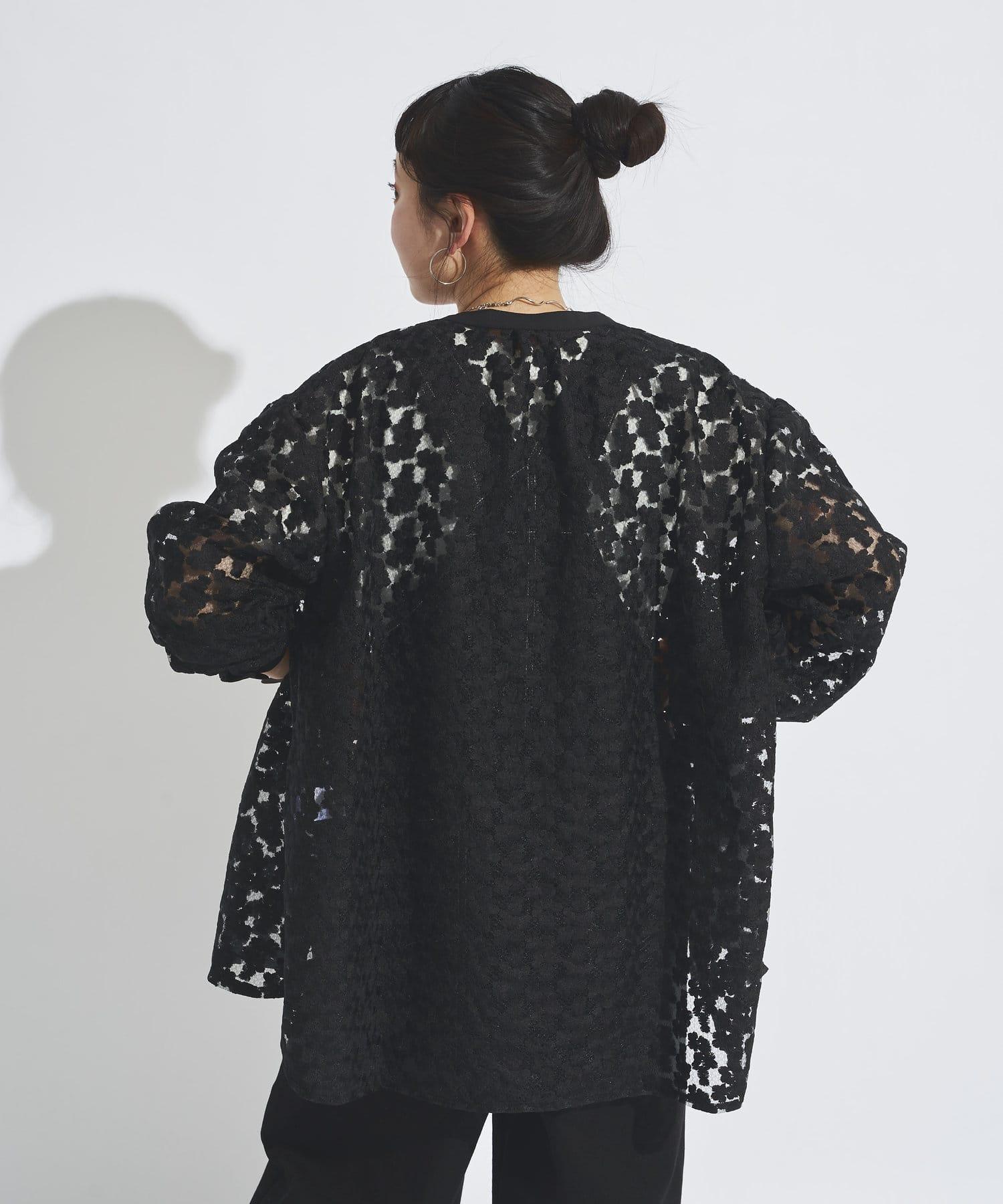 CPCM(シーピーシーエム) フラワーレースビッグシャツ