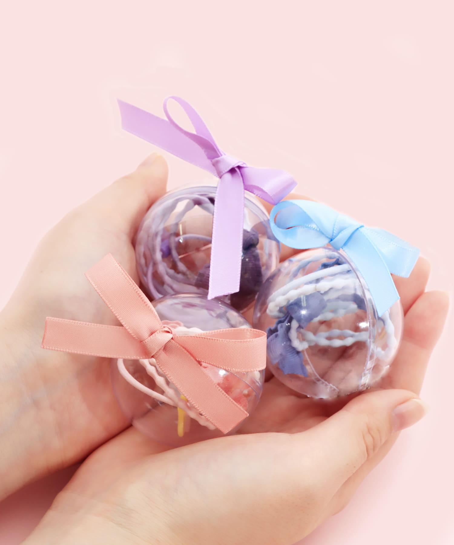 3COINS(スリーコインズ) メンズ 【ASOKO】カプセルリボンヘアゴム ピンク