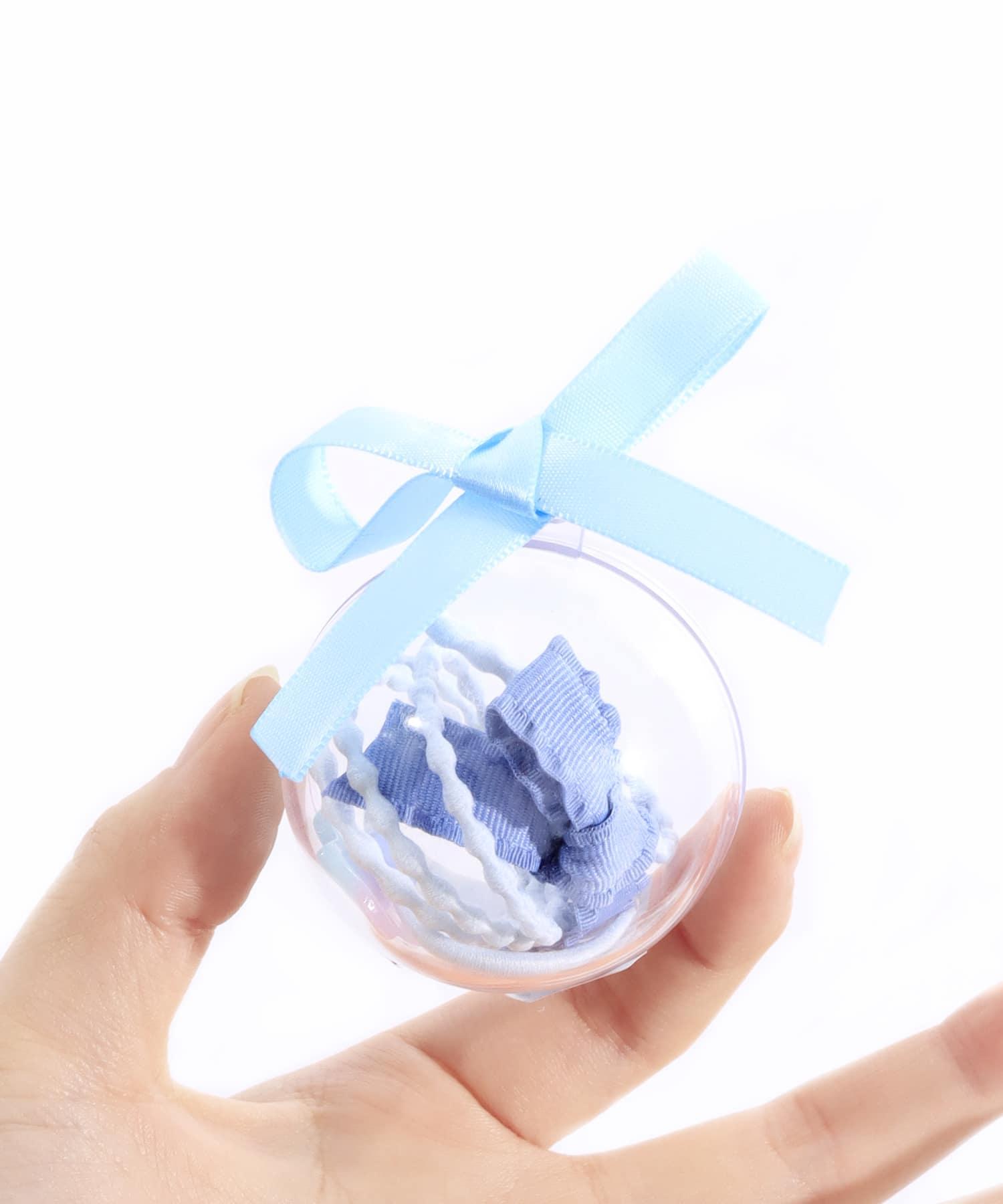 ASOKO(アソコ) メンズ カプセルリボンヘアゴム ブルー