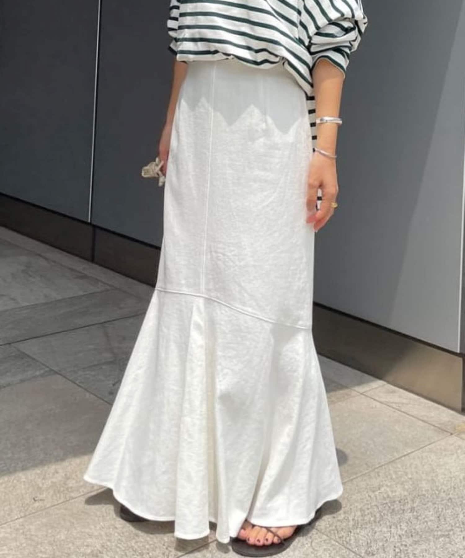SHENERY(シーナリー) リネン混ペプラムマーメイドスカート