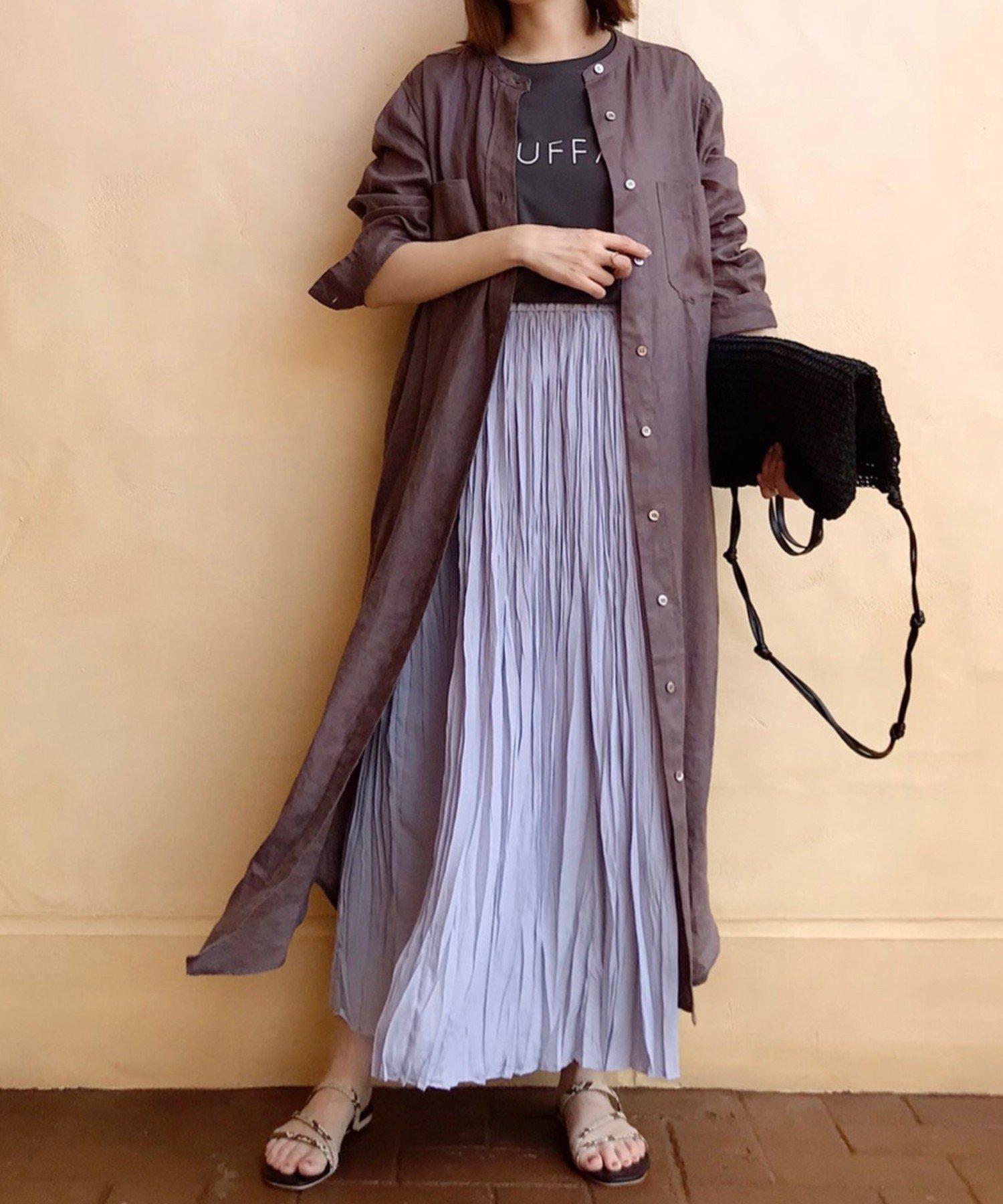 OUTLET premium(アウトレット プレミアム) 【手洗い可】ヴィンテージデシンプリーツスカート