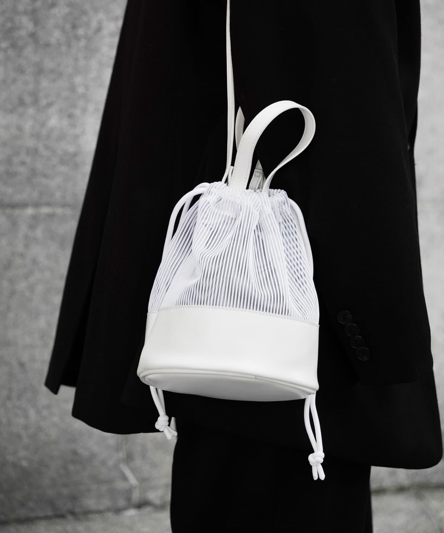 COLONY 2139(コロニー トゥーワンスリーナイン) レディース 【@sakina_yamamoto】メッシュ巾着トートバッグ ホワイト
