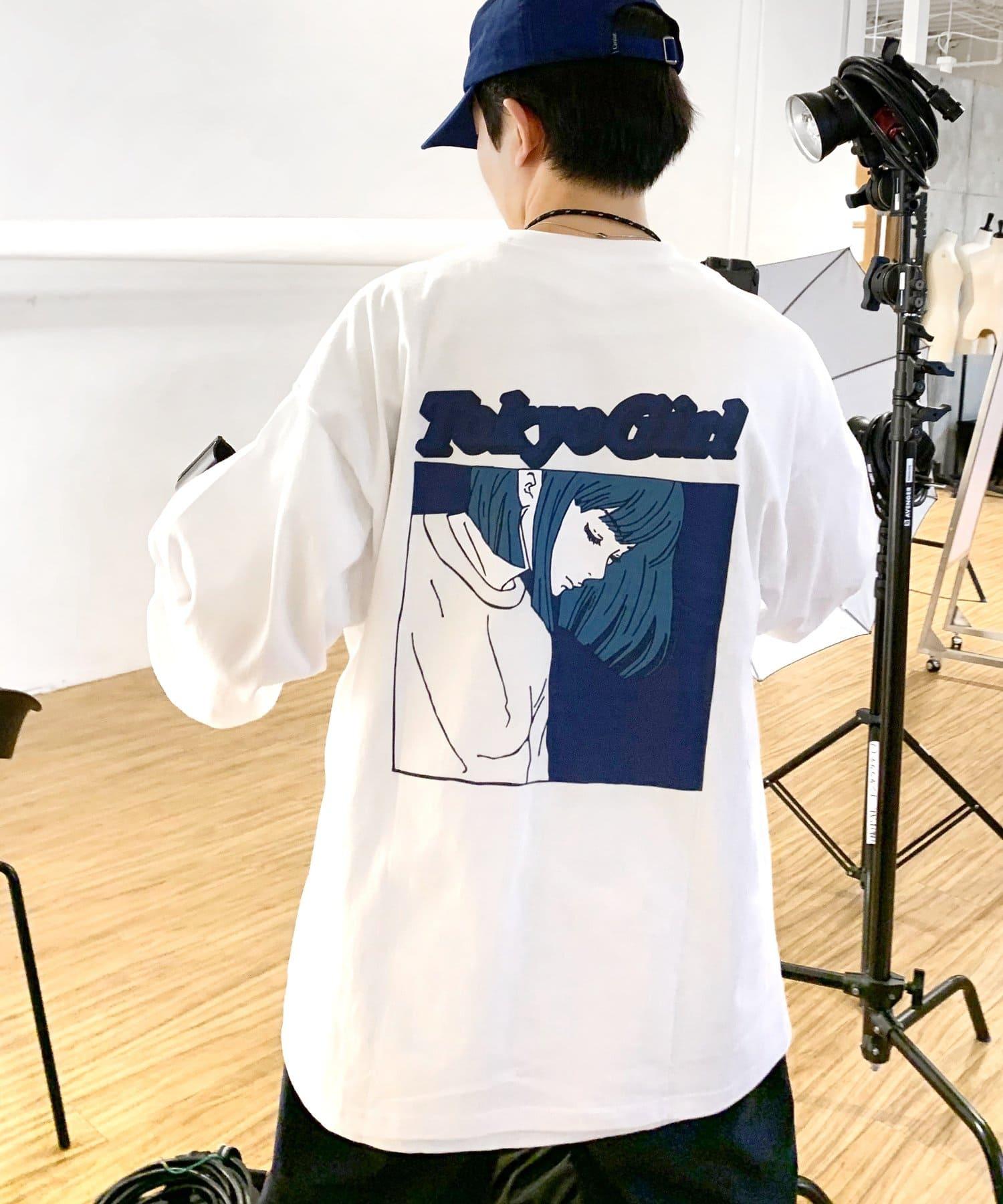 WHO'S WHO gallery(フーズフーギャラリー) 《WEB限定》東京ガール カラーフレーム ロンTEE
