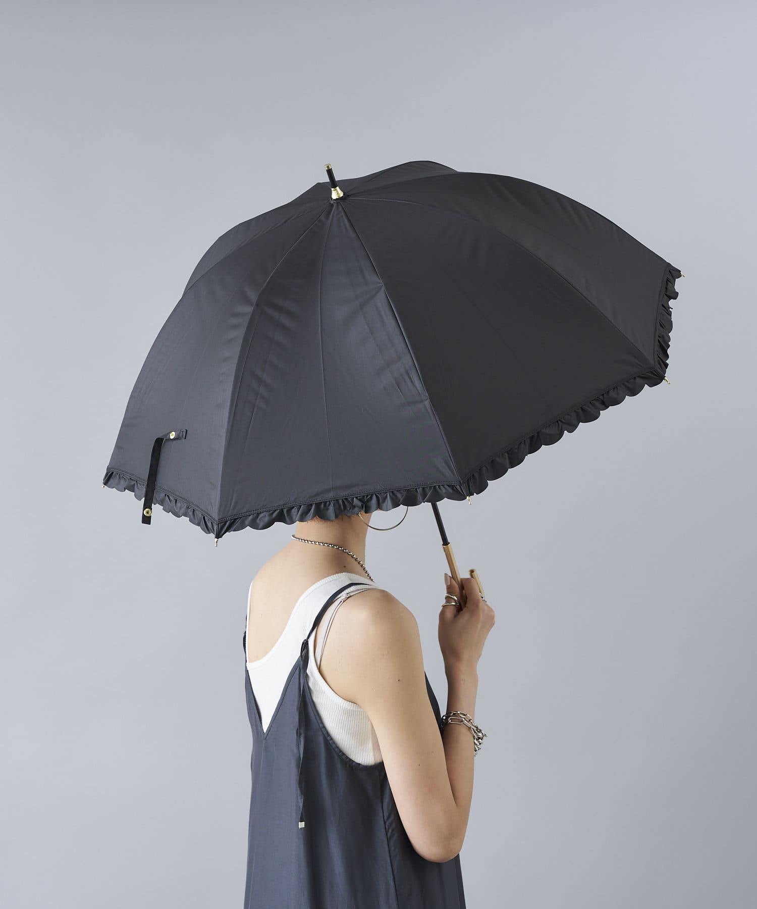 DOUDOU(ドゥドゥ) DOUDOU(ドゥドゥ) 【WEB限定】遮光遮熱 フリルバルーン ブラック