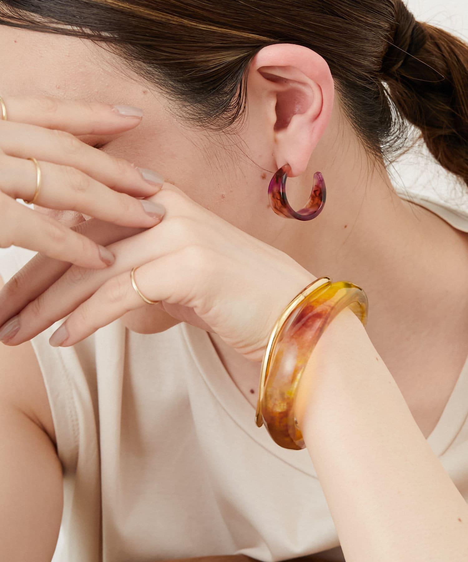 ear PAPILLONNER(イア パピヨネ) (WEB限定)マーブル樹脂セットバングル