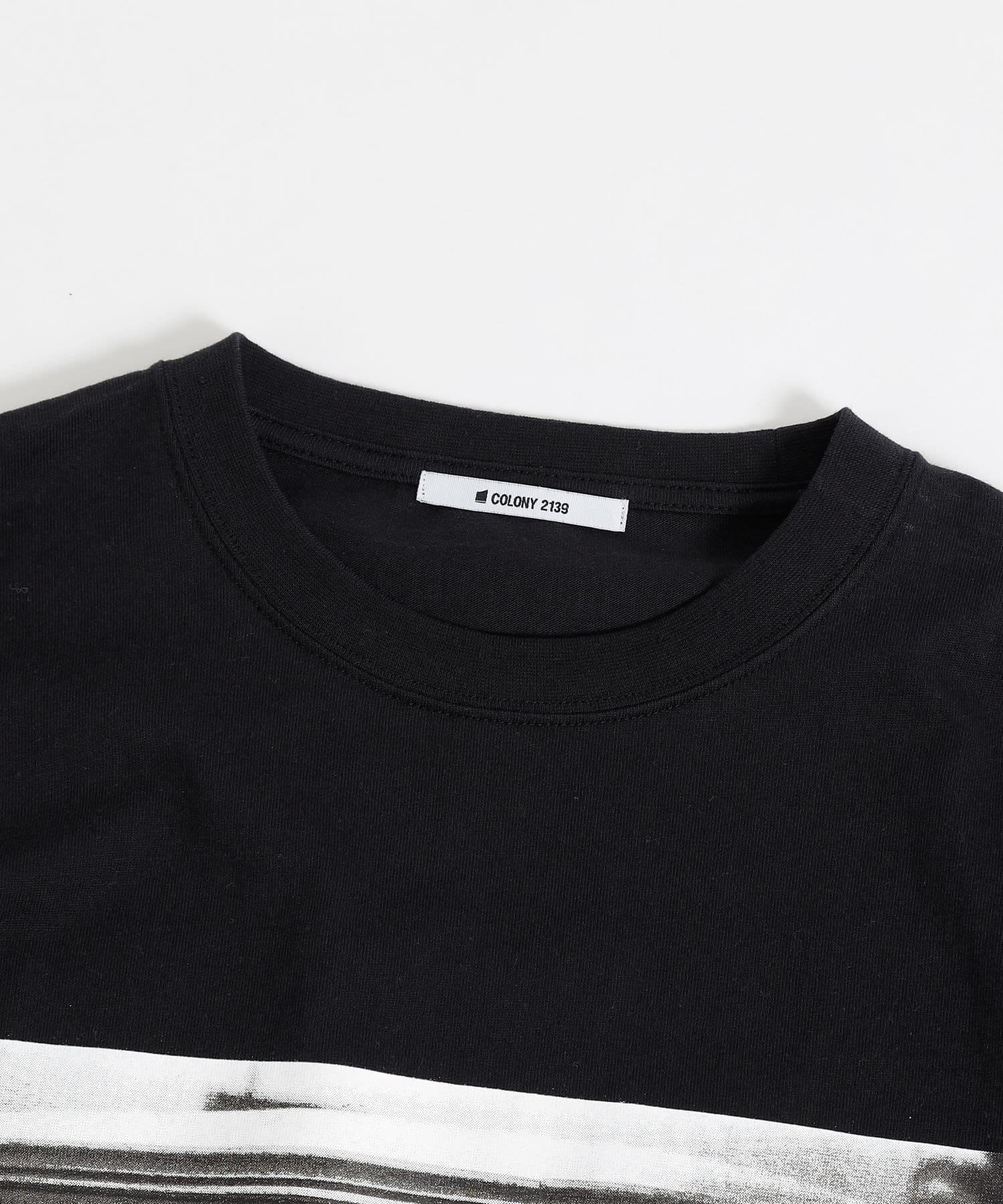 COLONY 2139(コロニー トゥーワンスリーナイン) PhotoUSAコットン天竺長袖Tシャツ/フォトプリントロンT(ユニセックス可)