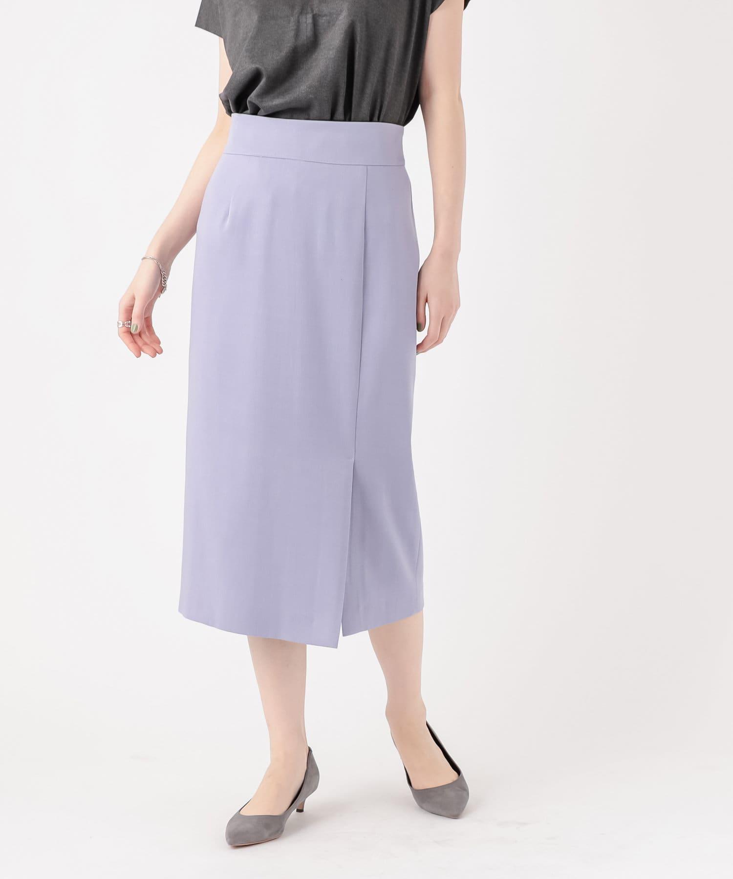 RIVE DROITE(リヴドロワ) 【ON/OFF着回し抜群な一枚】タックタイトスカート
