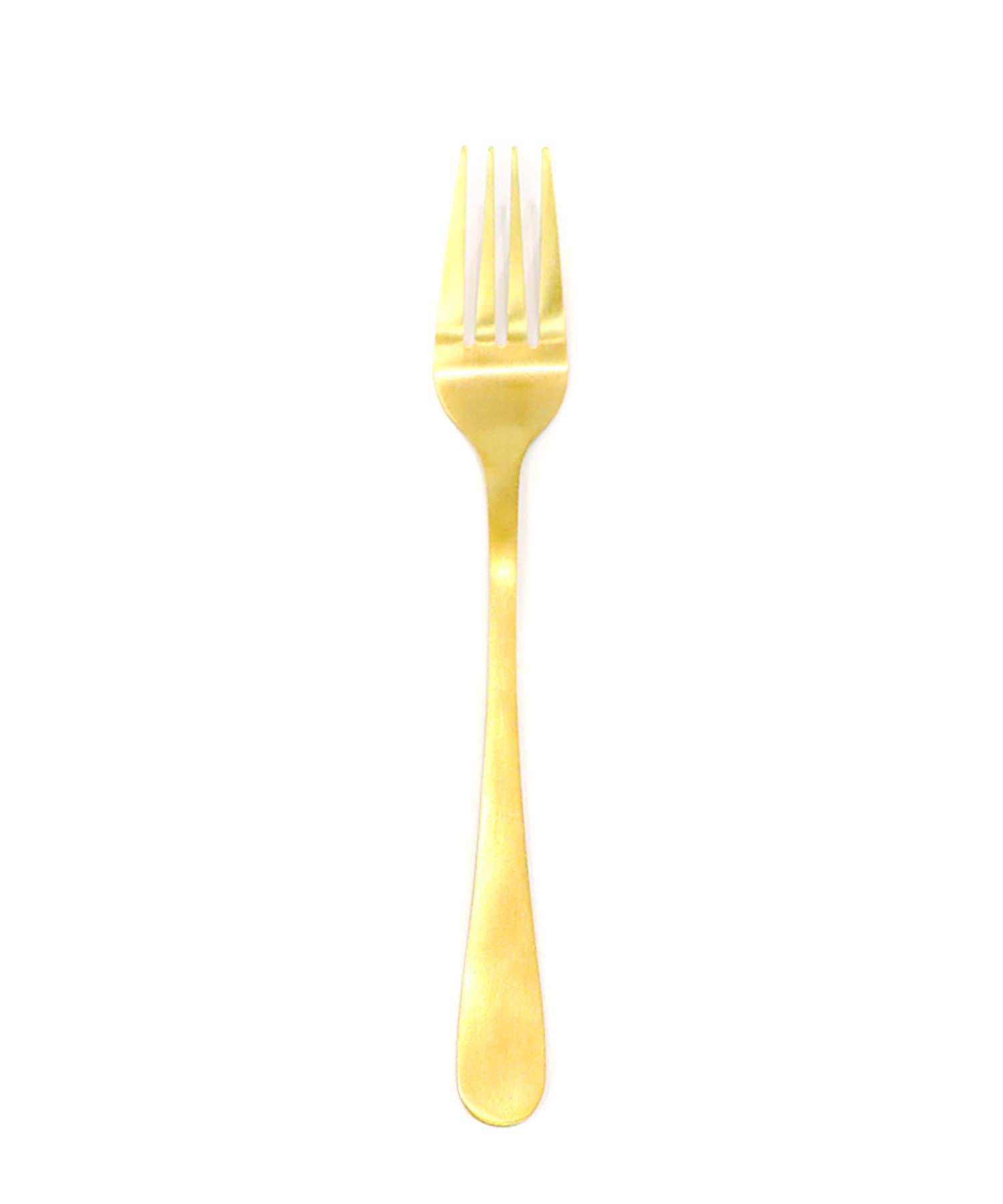 3COINS(スリーコインズ) ライフスタイル カトラリーフォーク【Mサイズ】 ゴールド