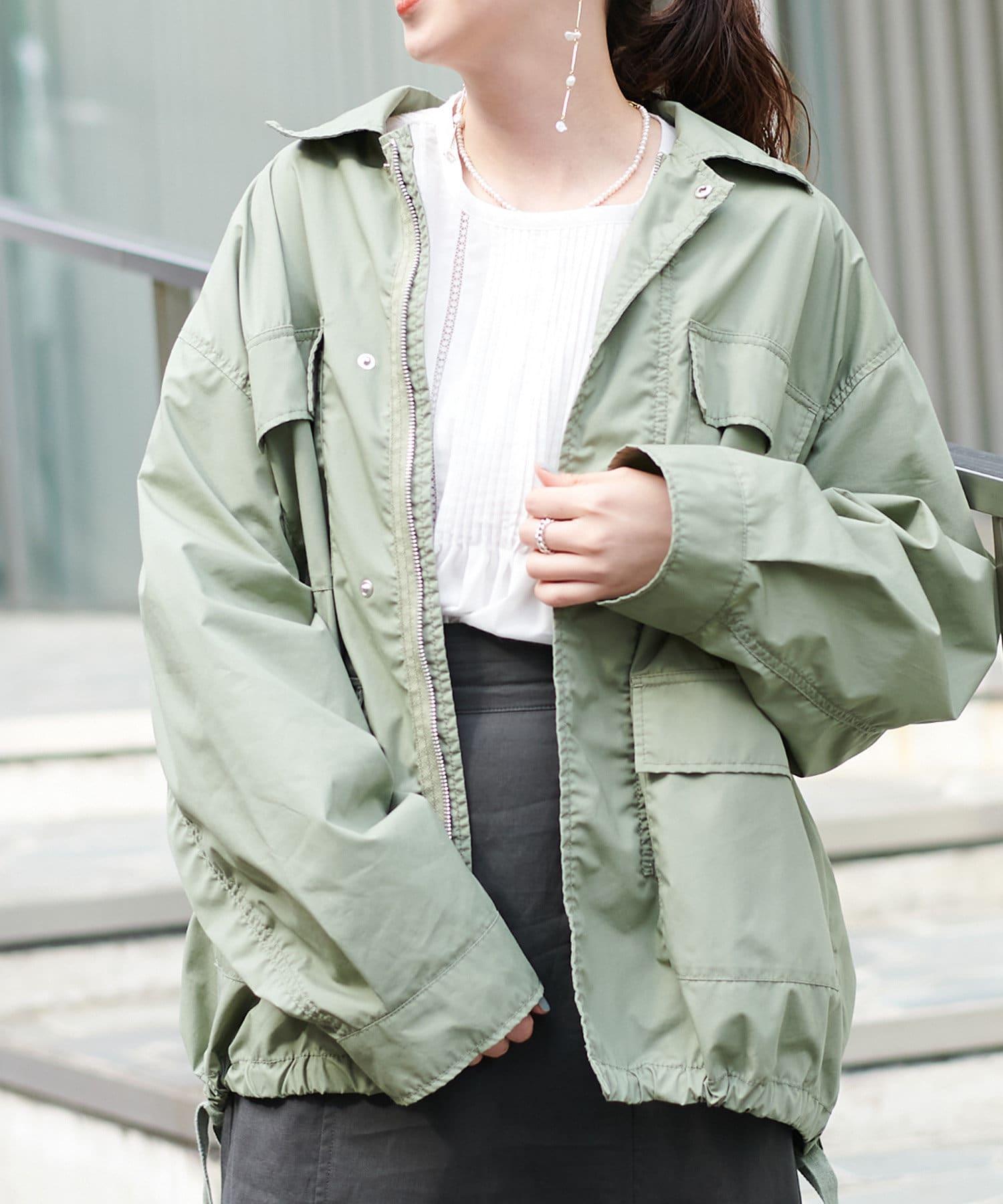 Discoat(ディスコート) レディース オソロミリタリーシャツジャケット オリーブ