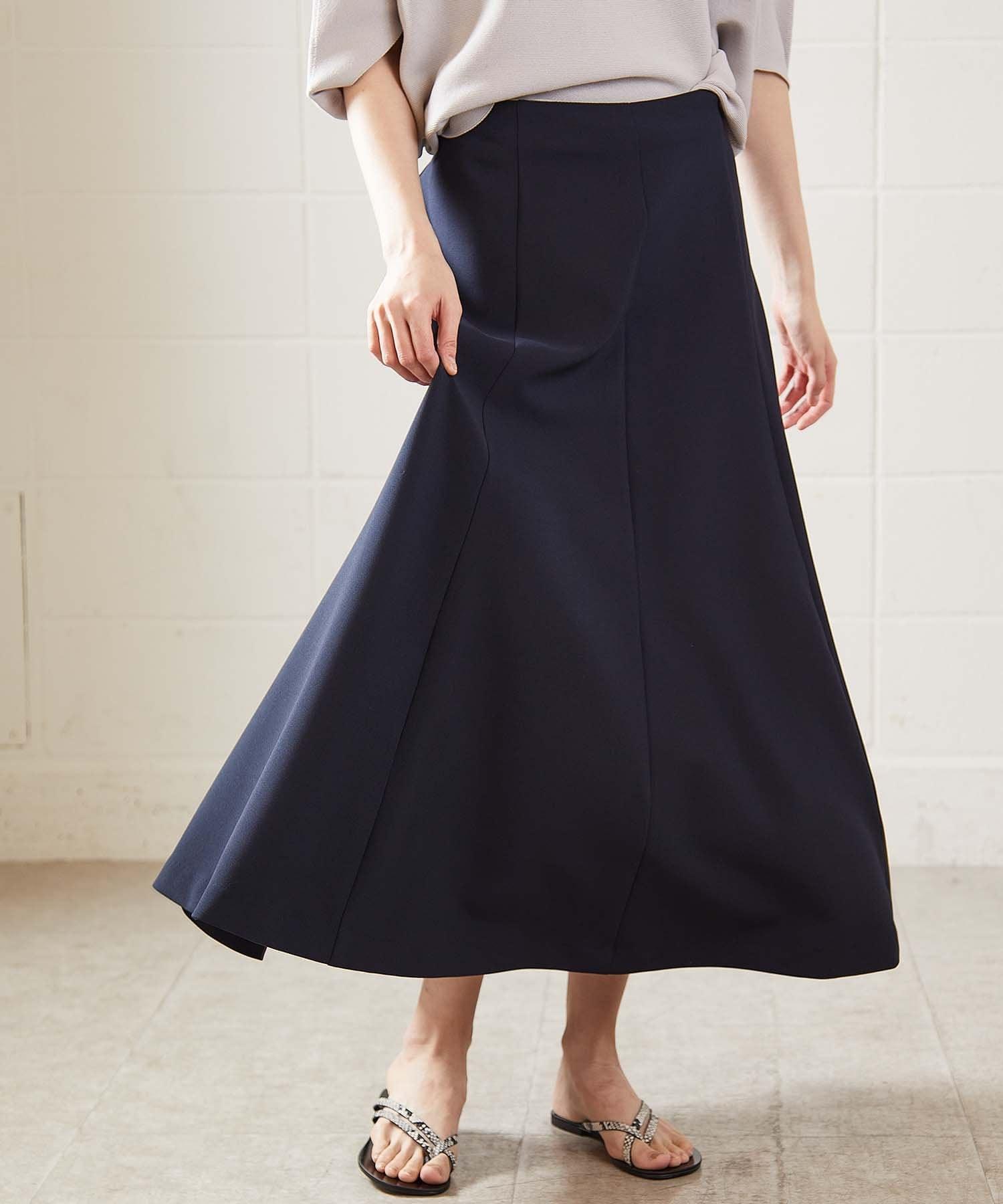 OUVRAGE CLASSE(ウヴラージュクラス) ダブルクロス切替フレアスカート
