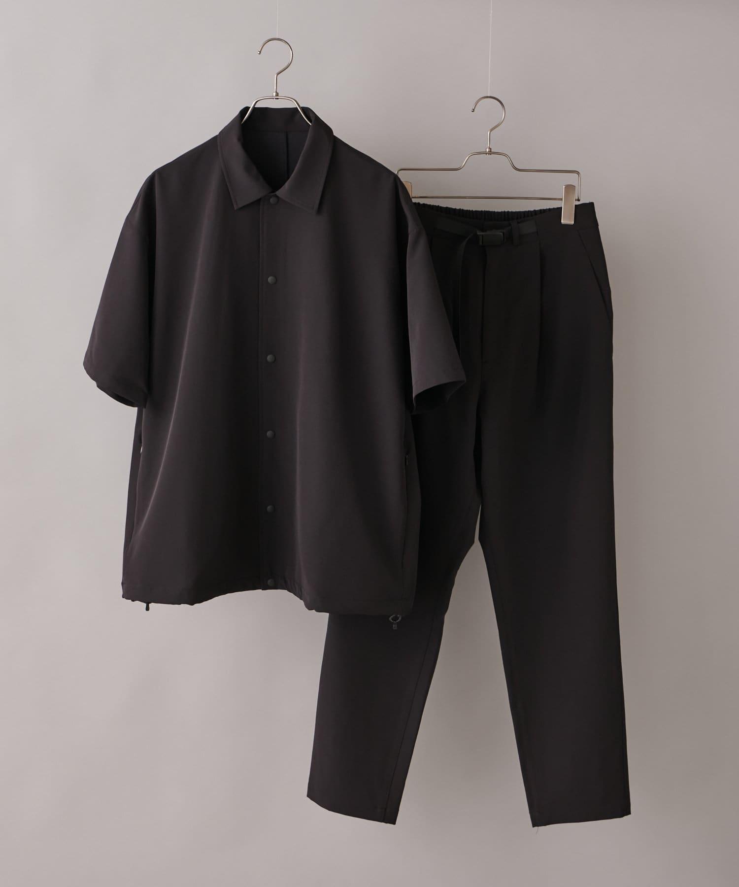 CIAOPANIC(チャオパニック) メンズ 【SHELTECH(R)/シェルテック】スナップシャツセットアップ ブラック