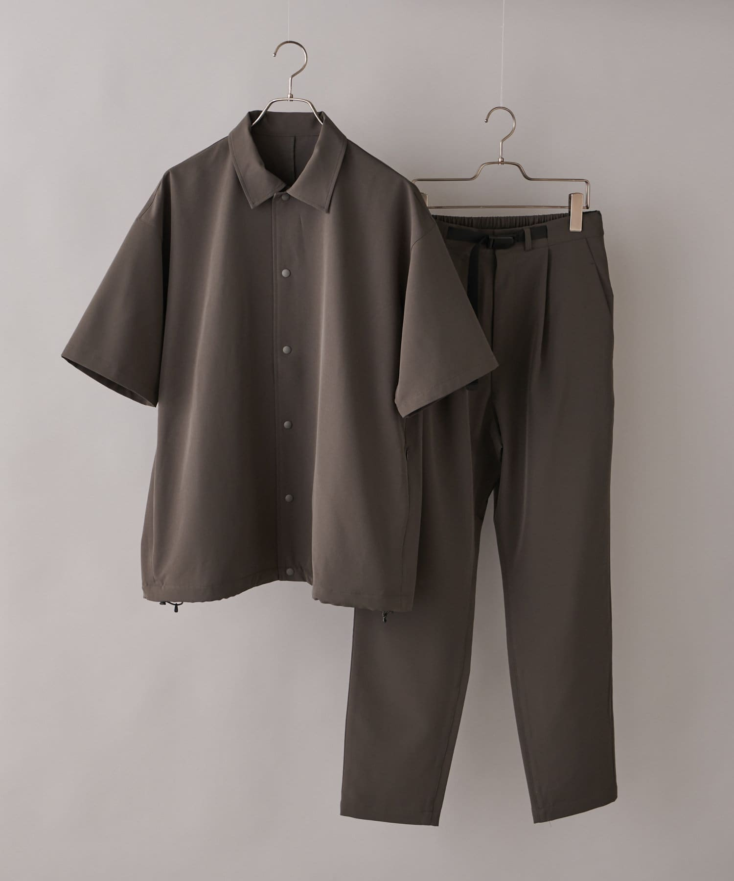 CIAOPANIC(チャオパニック) メンズ 【SHELTECH(R)/シェルテック】スナップシャツセットアップ グレー
