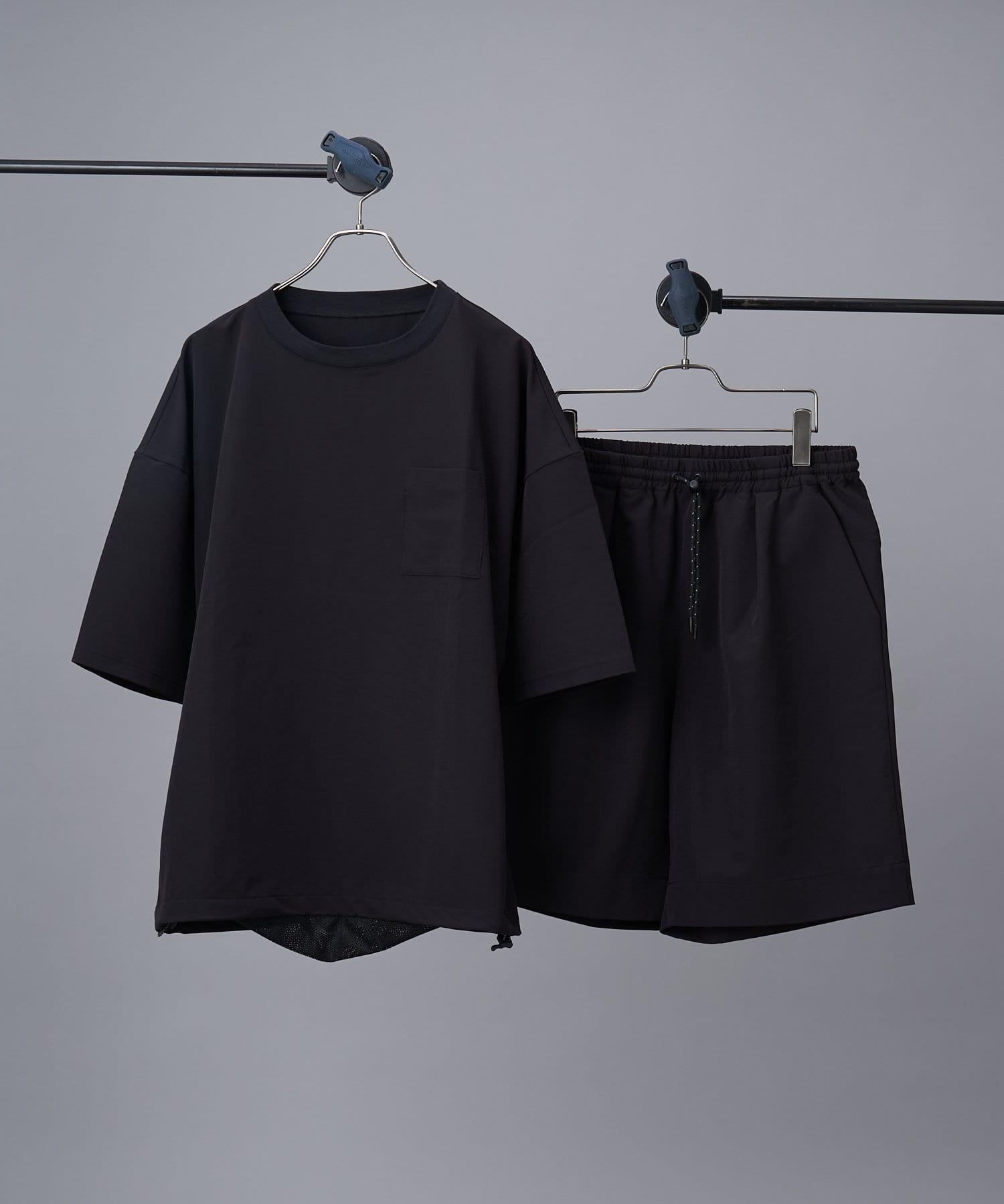 CIAOPANIC(チャオパニック) メンズ 【SHELTECH(R)/シェルテック】ビッグTシャツ+ショーツ/セットアップ ブラック