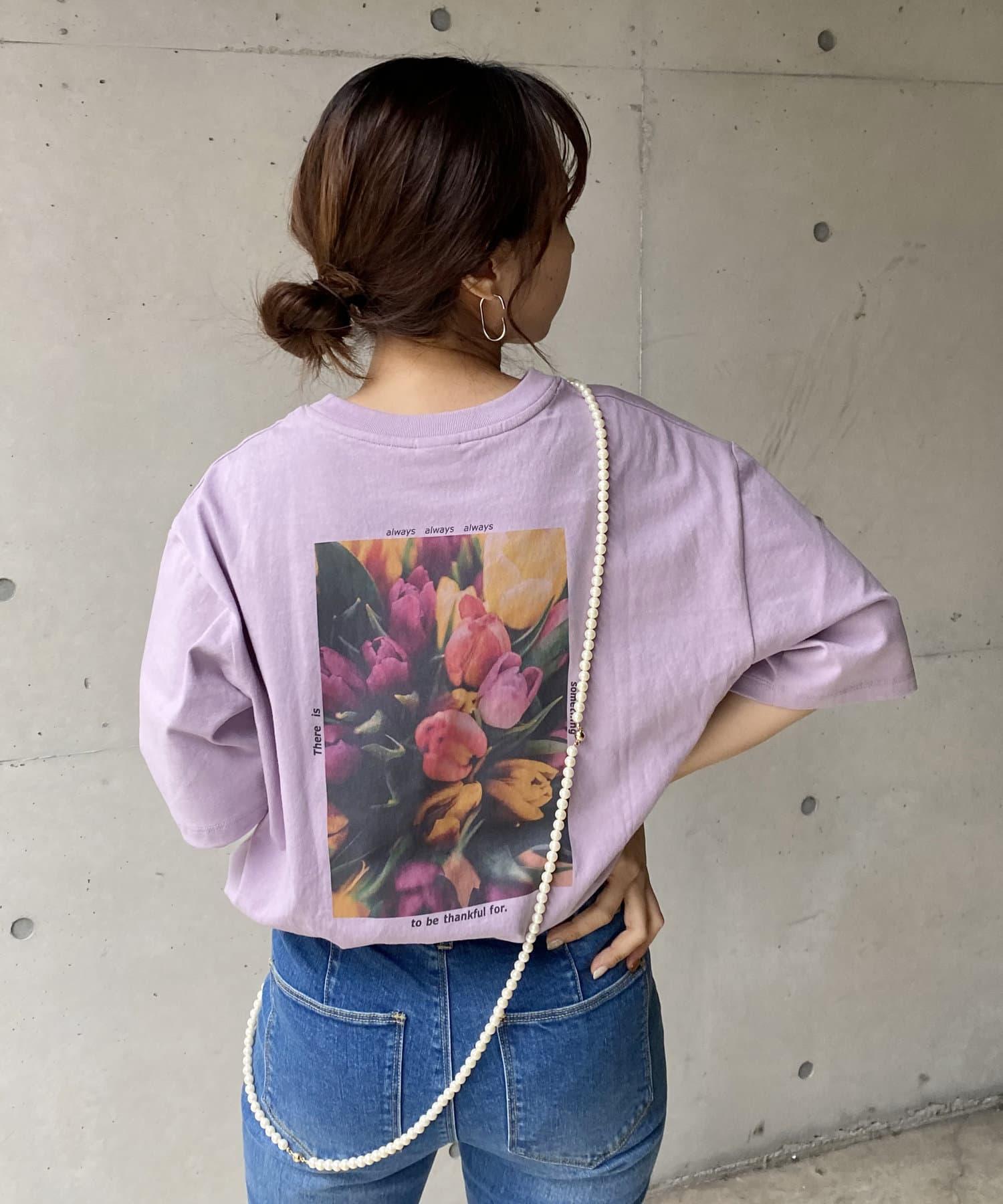 CAPRICIEUX LE'MAGE(カプリシュレマージュ) 【SOMETHING/サムシング】フラワーTシャツ