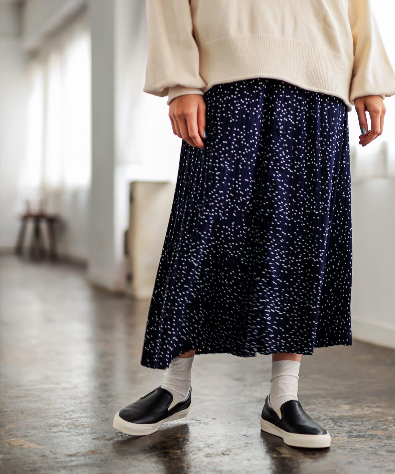 pual ce cin(ピュアルセシン) レディース 【WEB限定】水玉プリントプリーツスカート その他2