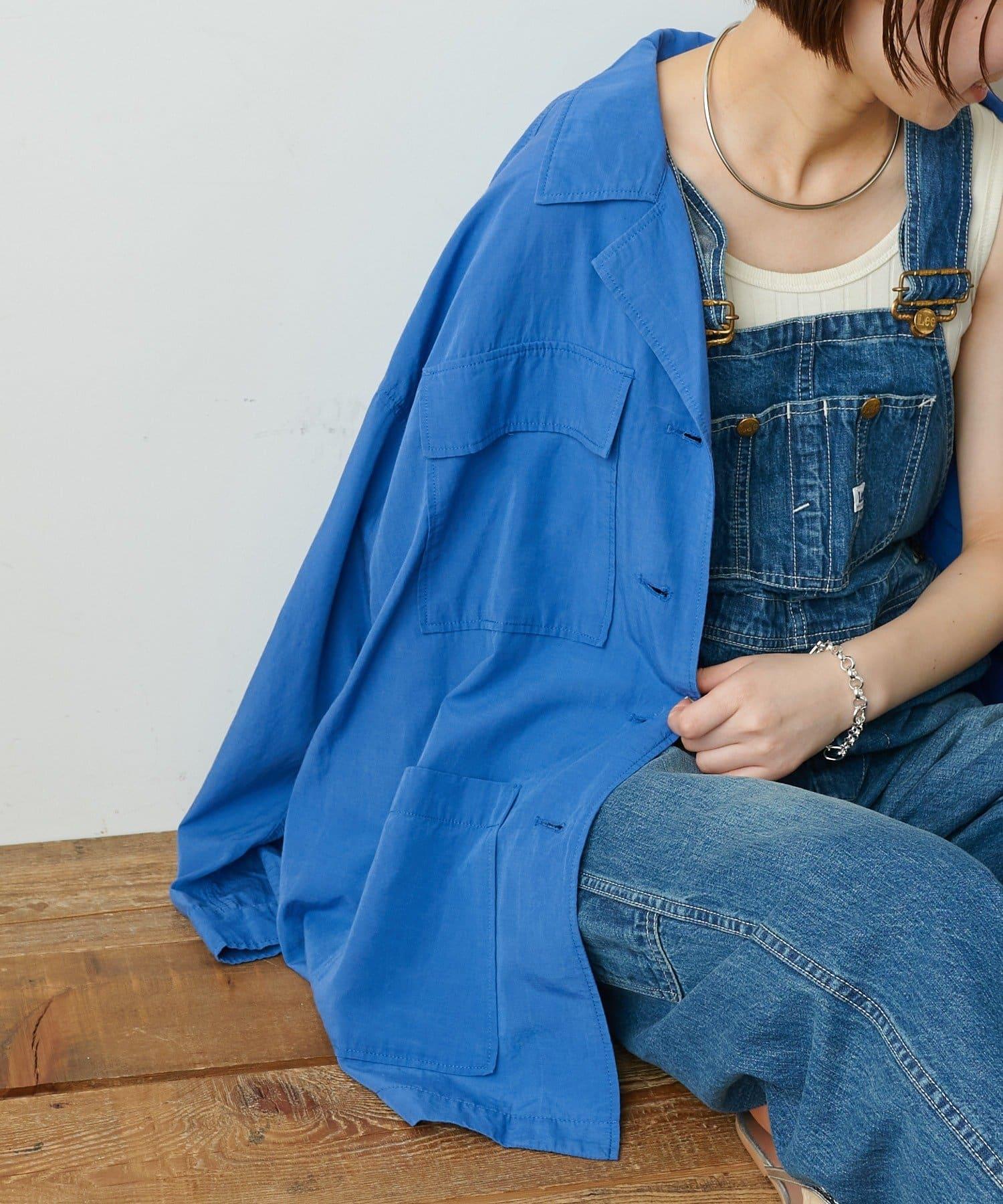 CIAOPANIC TYPY(チャオパニックティピー) 【説明動画付き】光沢リネンBIGシャツジャケット