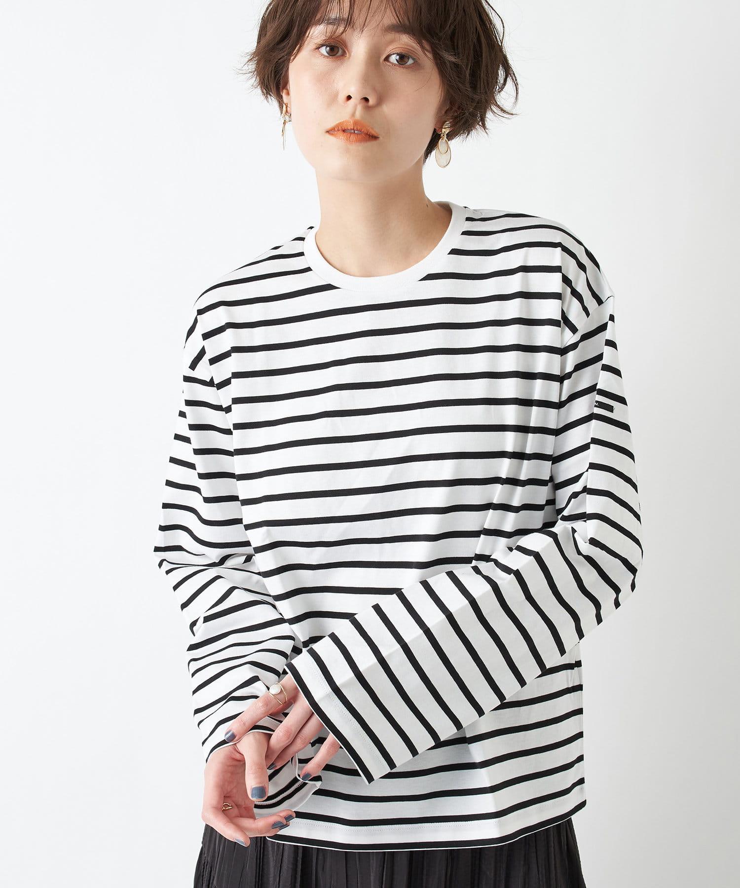 un dix cors(アンディコール) 【ORCIVAL(オーシバル)】ストライプロングTシャツ