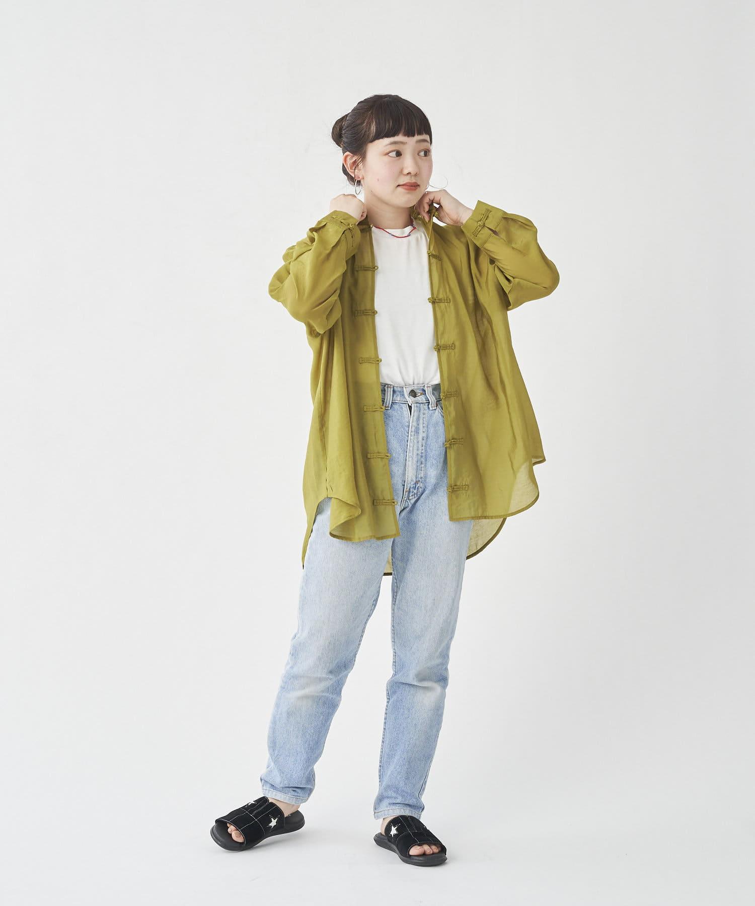 CPCM(シーピーシーエム) シースルースタンドカラーチャイナシャツ