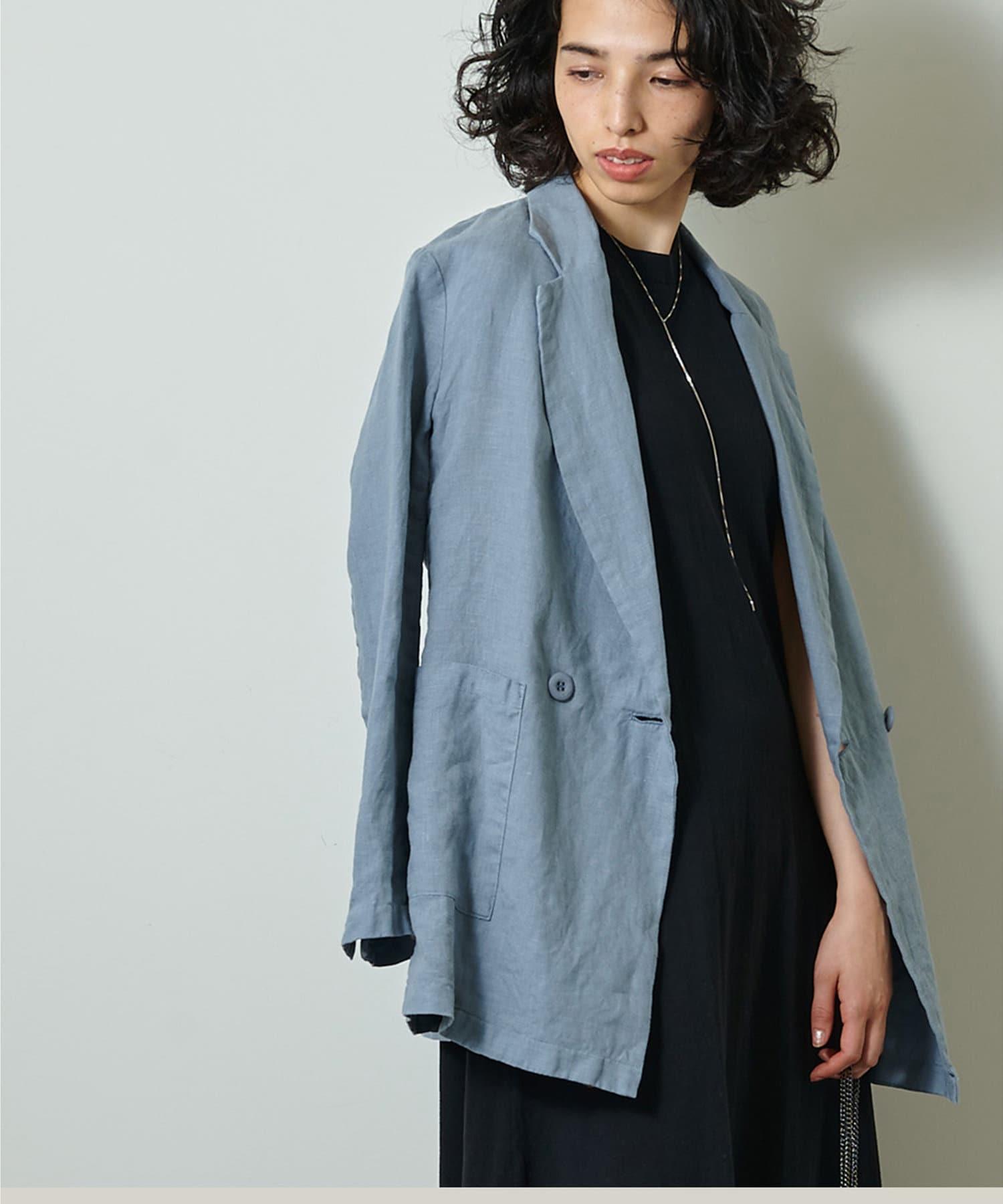 Whim Gazette(ウィム ガゼット) リネン製品染めジャケット