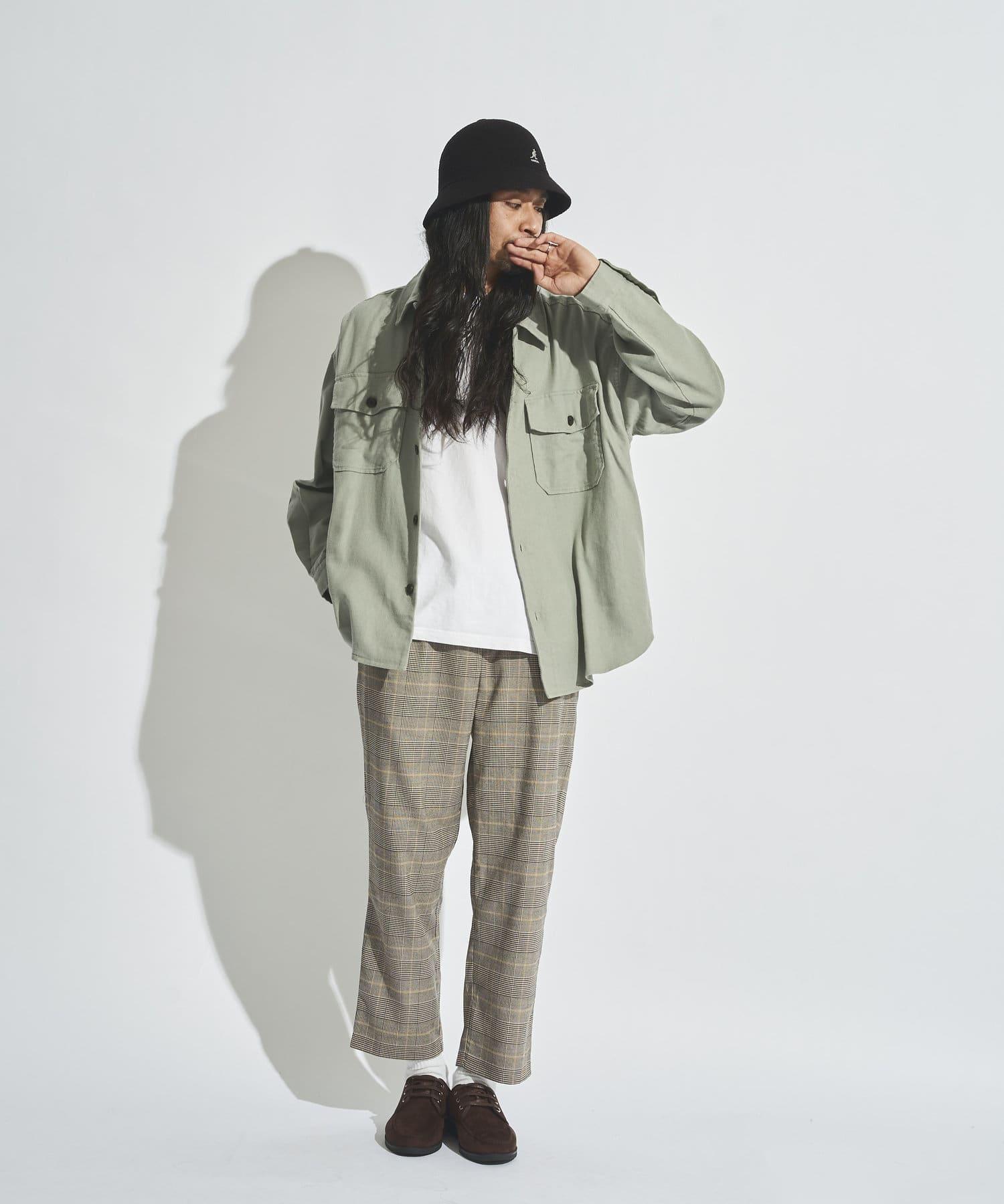 CPCM(シーピーシーエム) 麻混CPOシャツジャケット