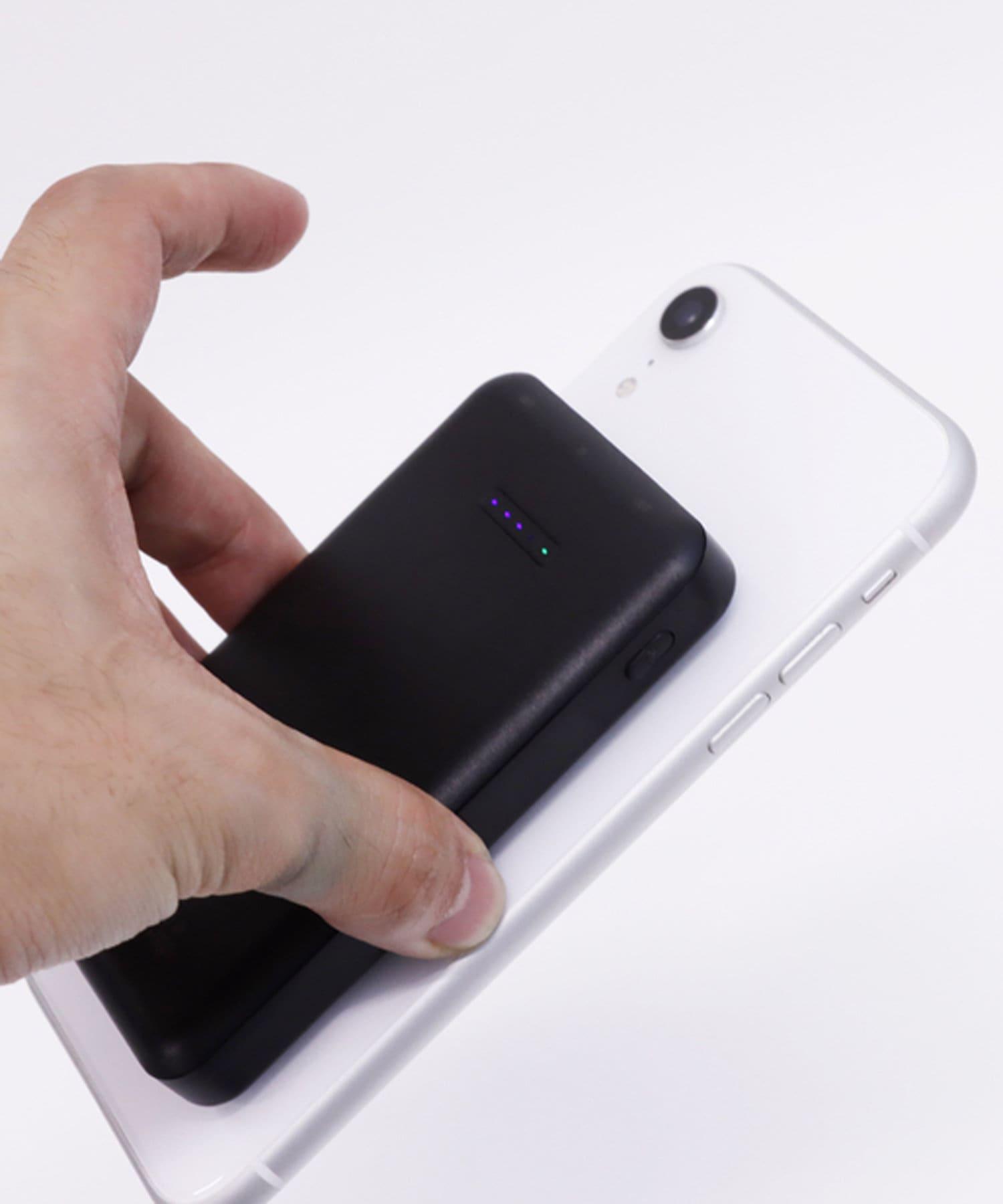 3COINS(スリーコインズ) ライフスタイル ワイヤレスモバイルバッテリー5000mAh ブラック