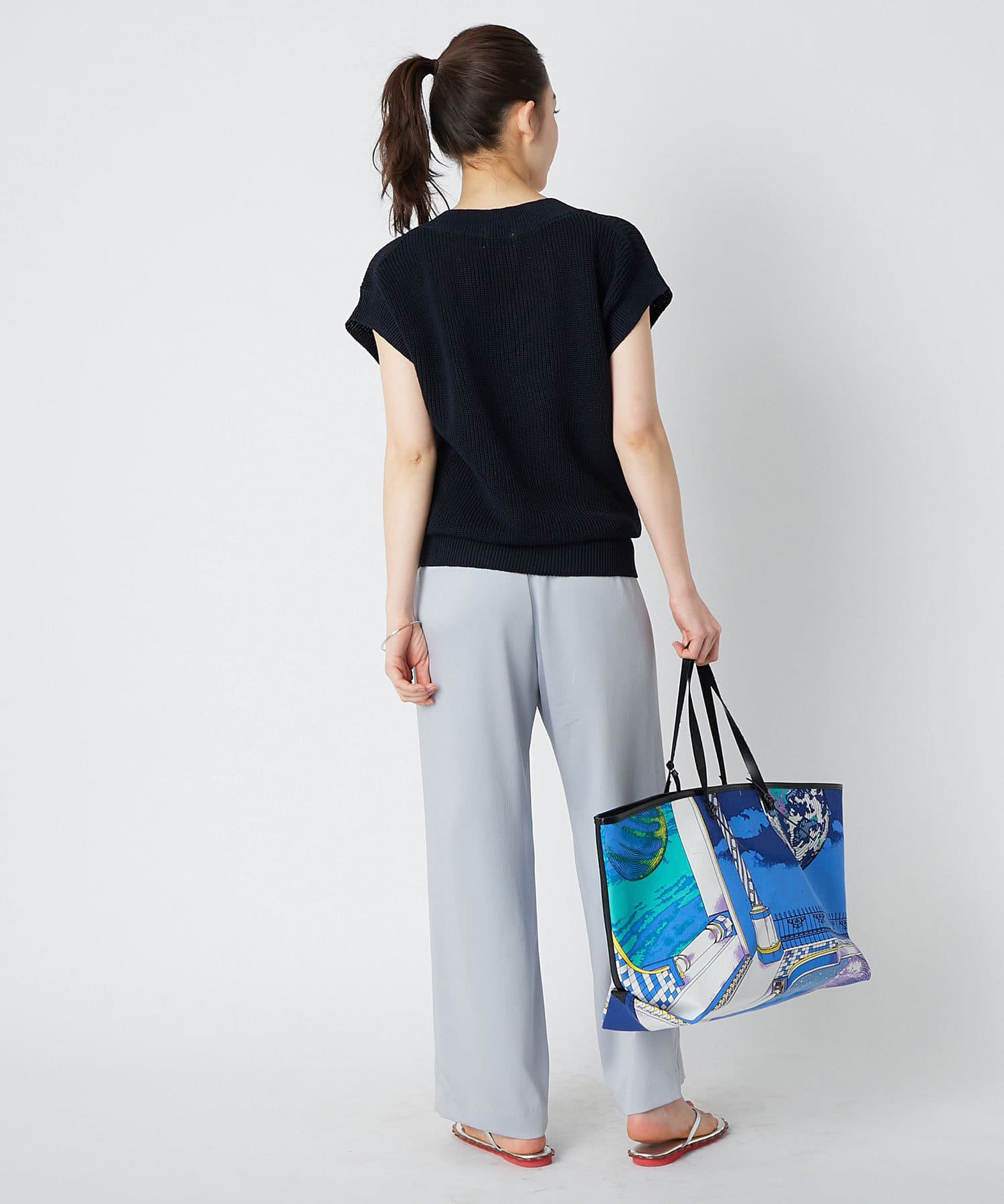 La boutique BonBon(ラブティックボンボン) 【WEB限定・manipuri(マニプリ)】船形トートLトロンプルイユ