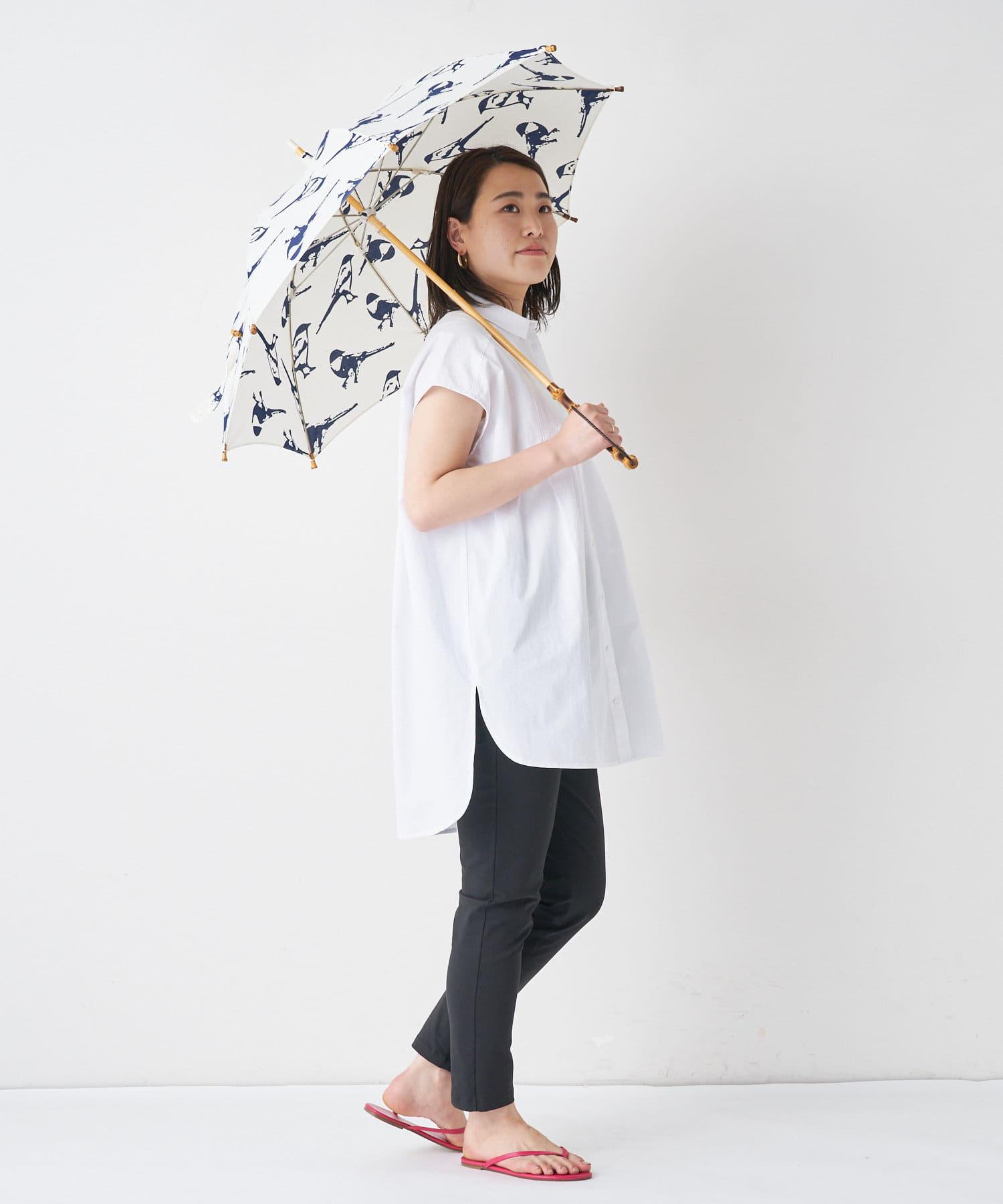 BONbazaar(ボンバザール) 《晴雨兼用》【breezy blue】注染 長傘