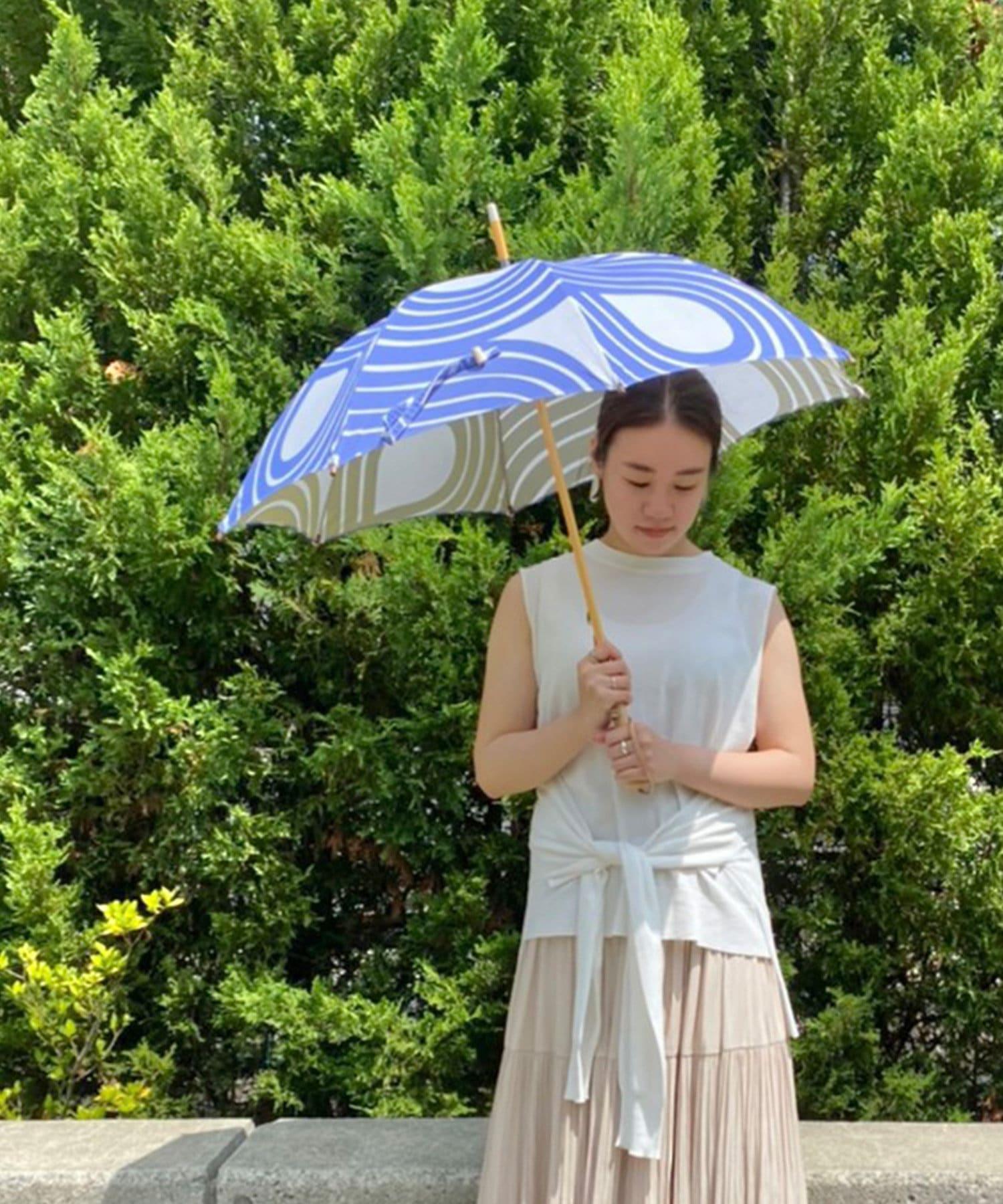 BONbazaar(ボンバザール) 《晴雨兼用》【breezy blue】両面捺染パラソル 長傘