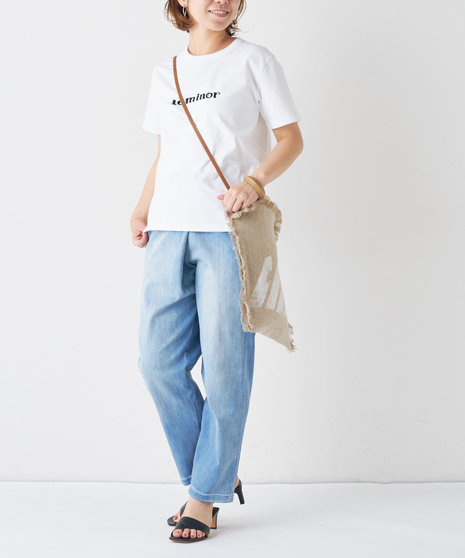 BONbazaar(ボンバザール) 【breezy blue】ウォッシュドリネンショルダーバッグ