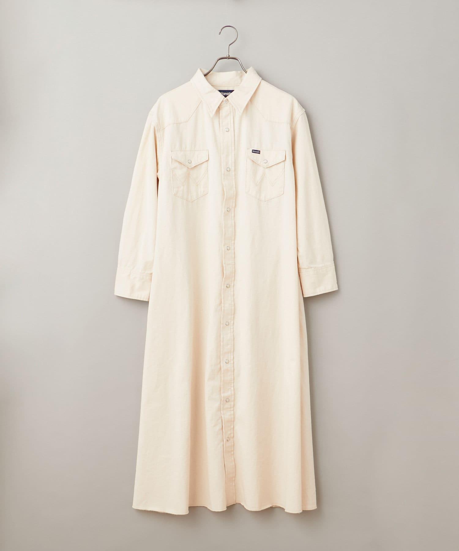 CIAOPANIC(チャオパニック) レディース 【Wrangler】WESTERN SHIRTS DRESS アイボリー