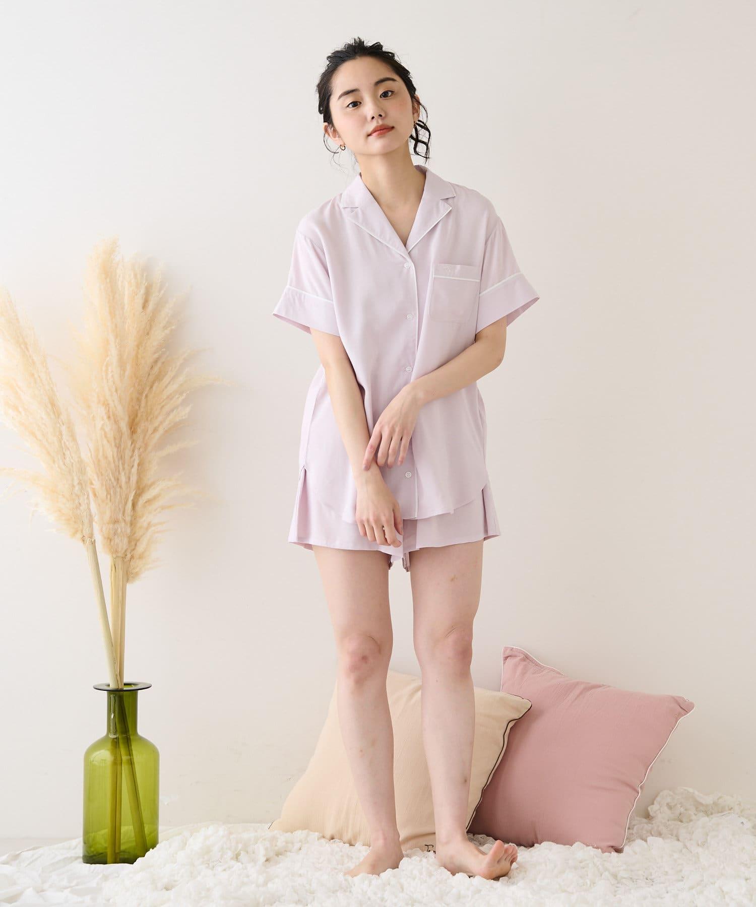TERRITOIRE(テリトワール) 【しあわせな眠りを】LADIES快眠リラックスパジャマ 半/半セット
