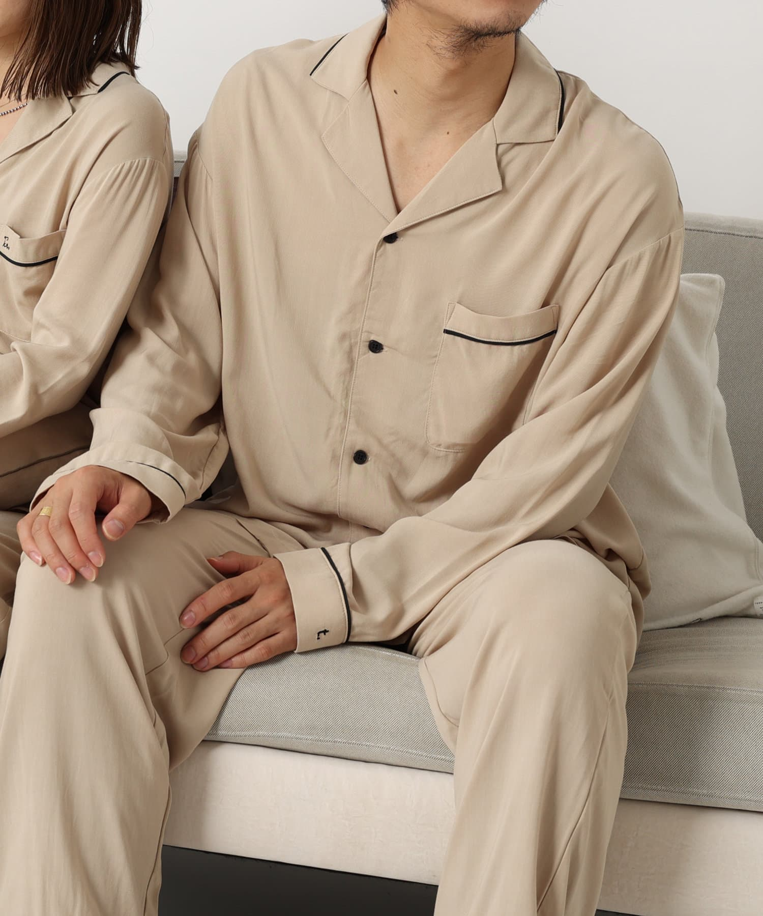 TERRITOIRE(テリトワール) 【しあわせな眠りを】MENS 快眠リラックスパジャマ 上下セット