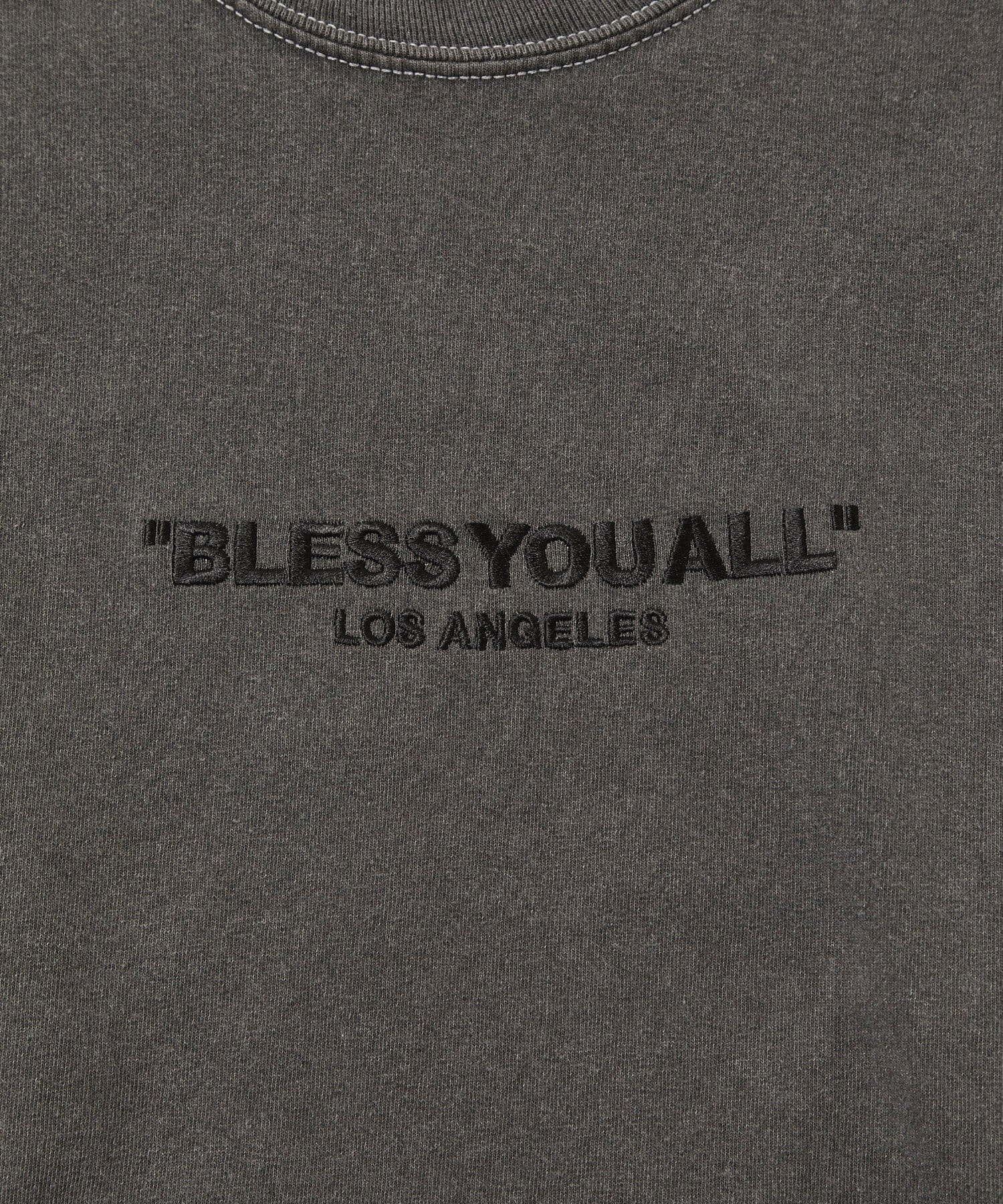 WHO'S WHO gallery(フーズフーギャラリー) 【BLESS YOU/ブレスユー】 ピグメント刺繍FAT LOGOロンT