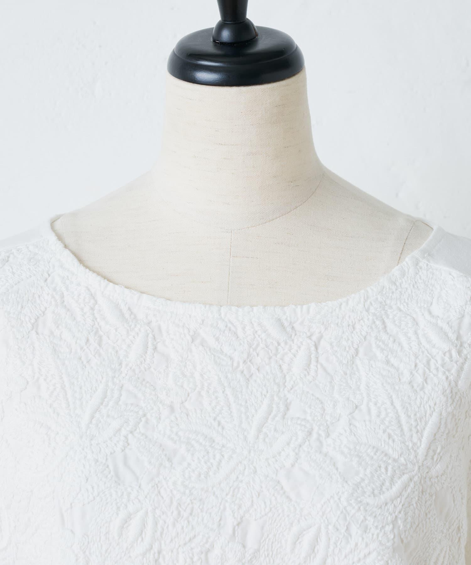 BEARDSLEY(ビアズリー) デニムフロント刺繍カットソー