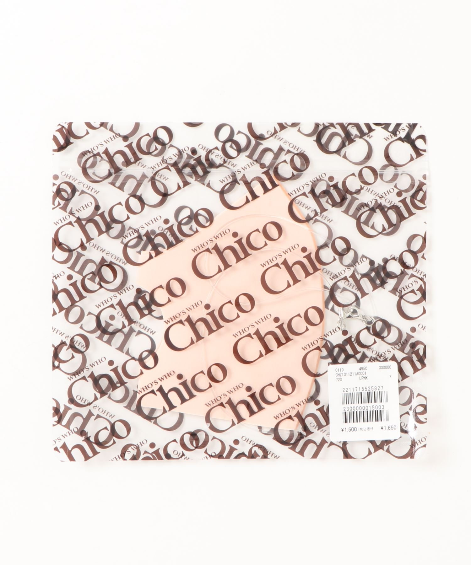 who's who Chico(フーズフーチコ) レディース ストラップ付ファンデーションマスク ベビーピンク